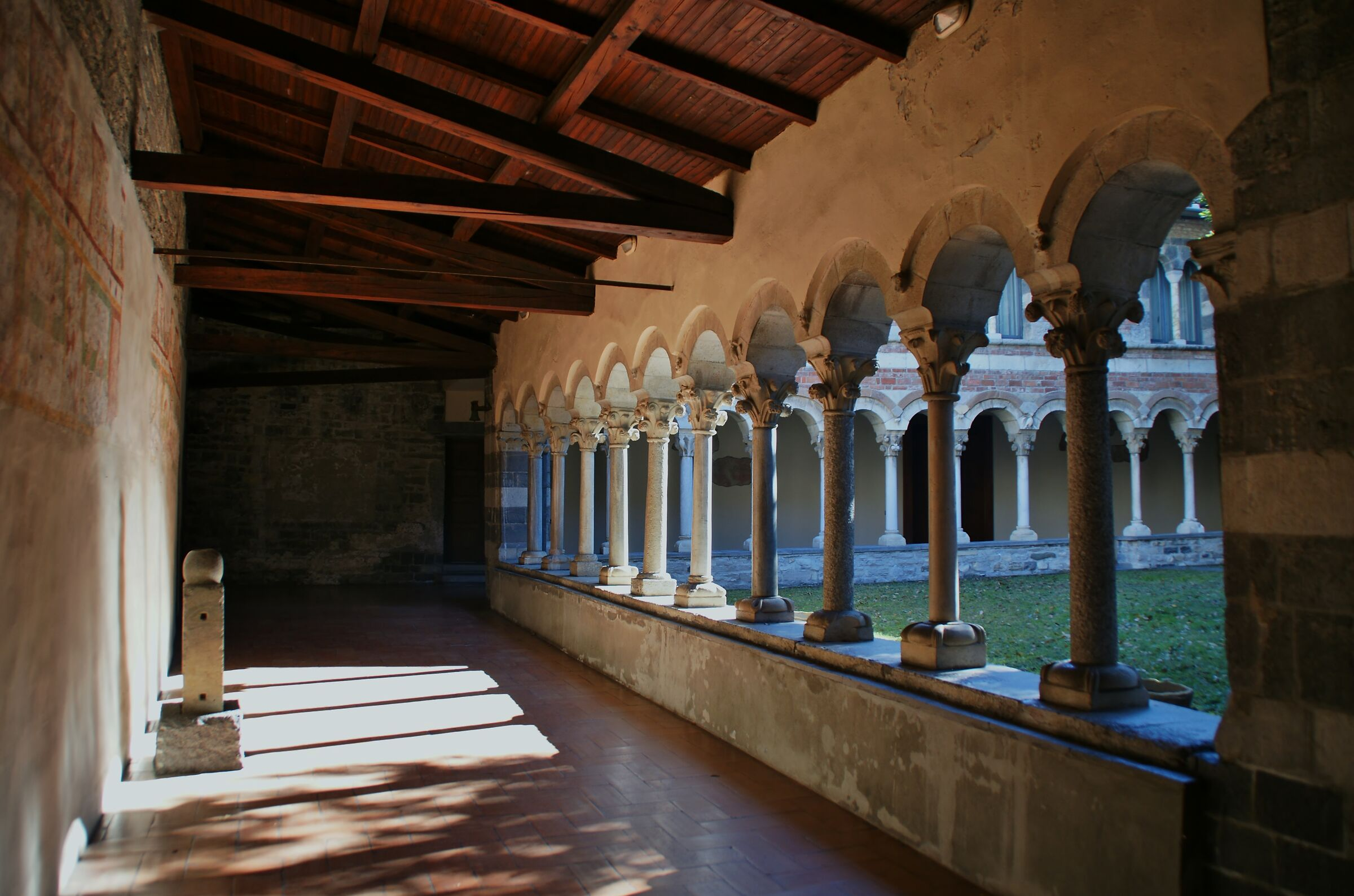 Cloister of Piona Abbey...