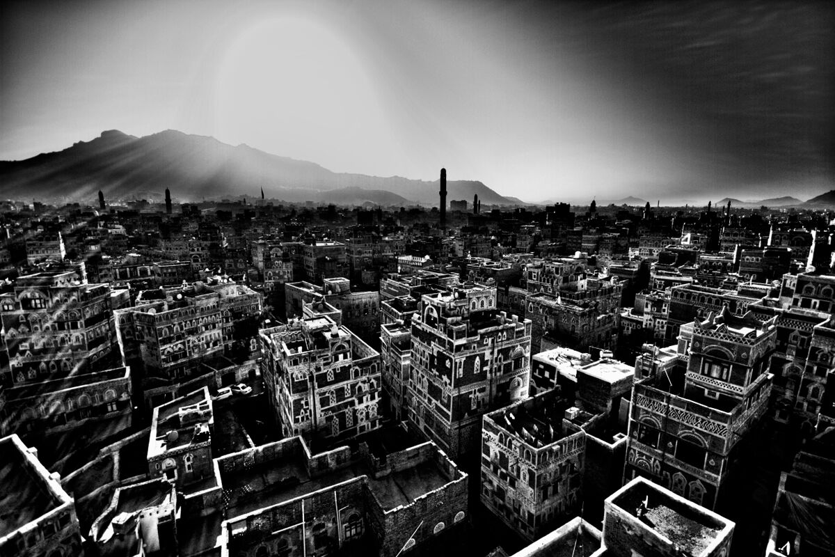 Sunrise in Sana'a...