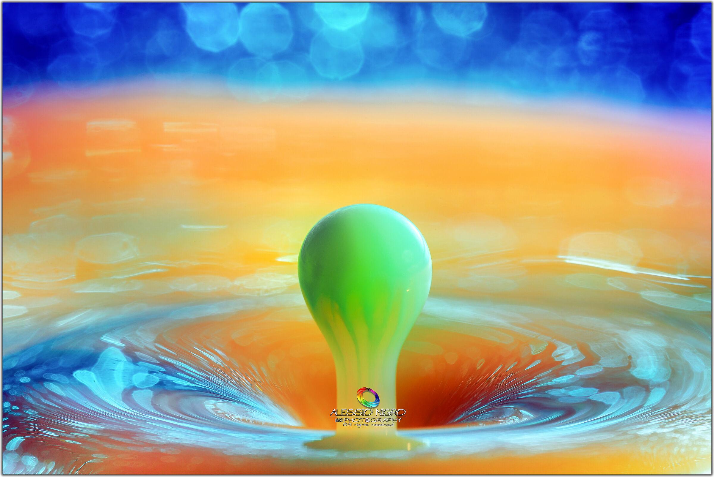 Milk colored drop...