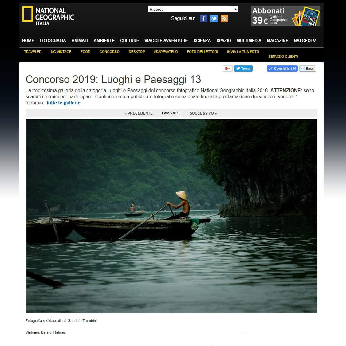 Vietnam. Mia foto selezionata dal National Geographic...