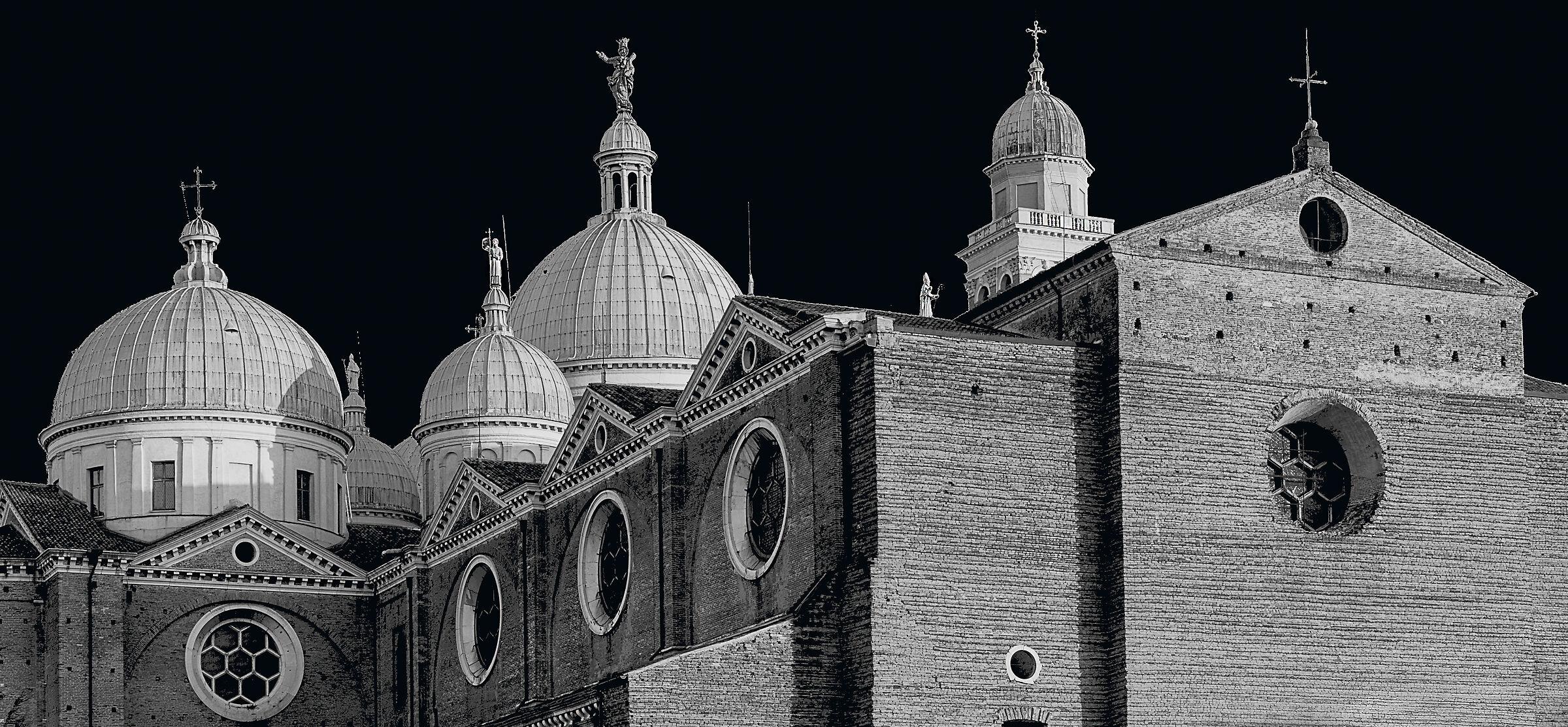 The dome of Santa Giustina in Padua...