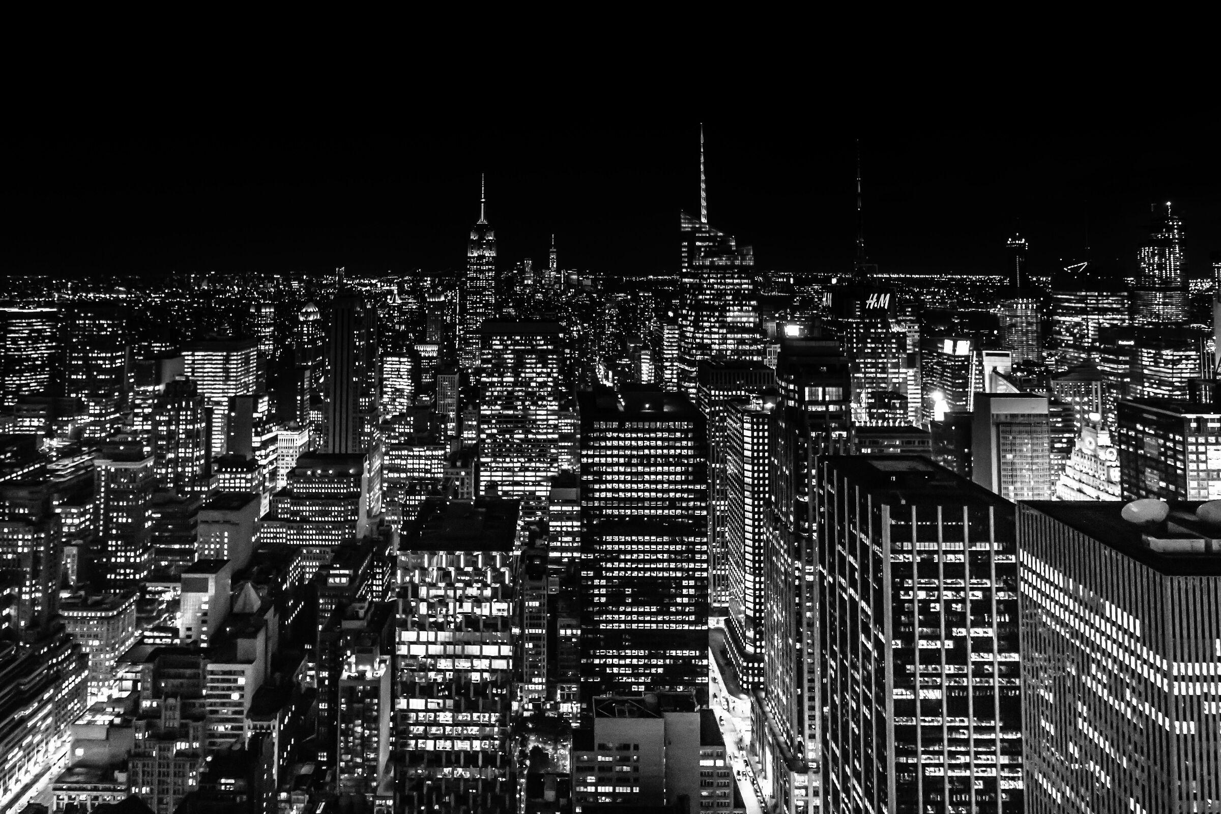 Lights in Manhattan...