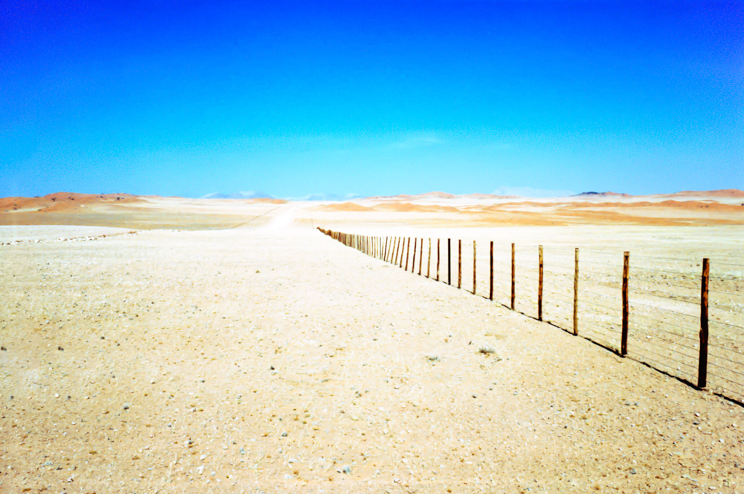 The road in the desert...