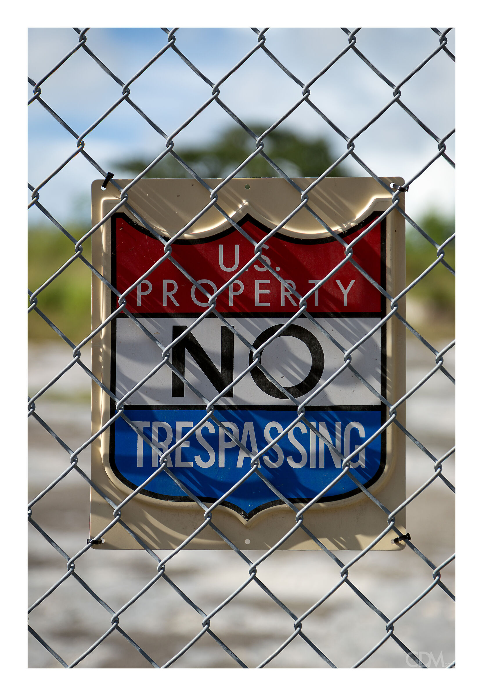 No trespassing...