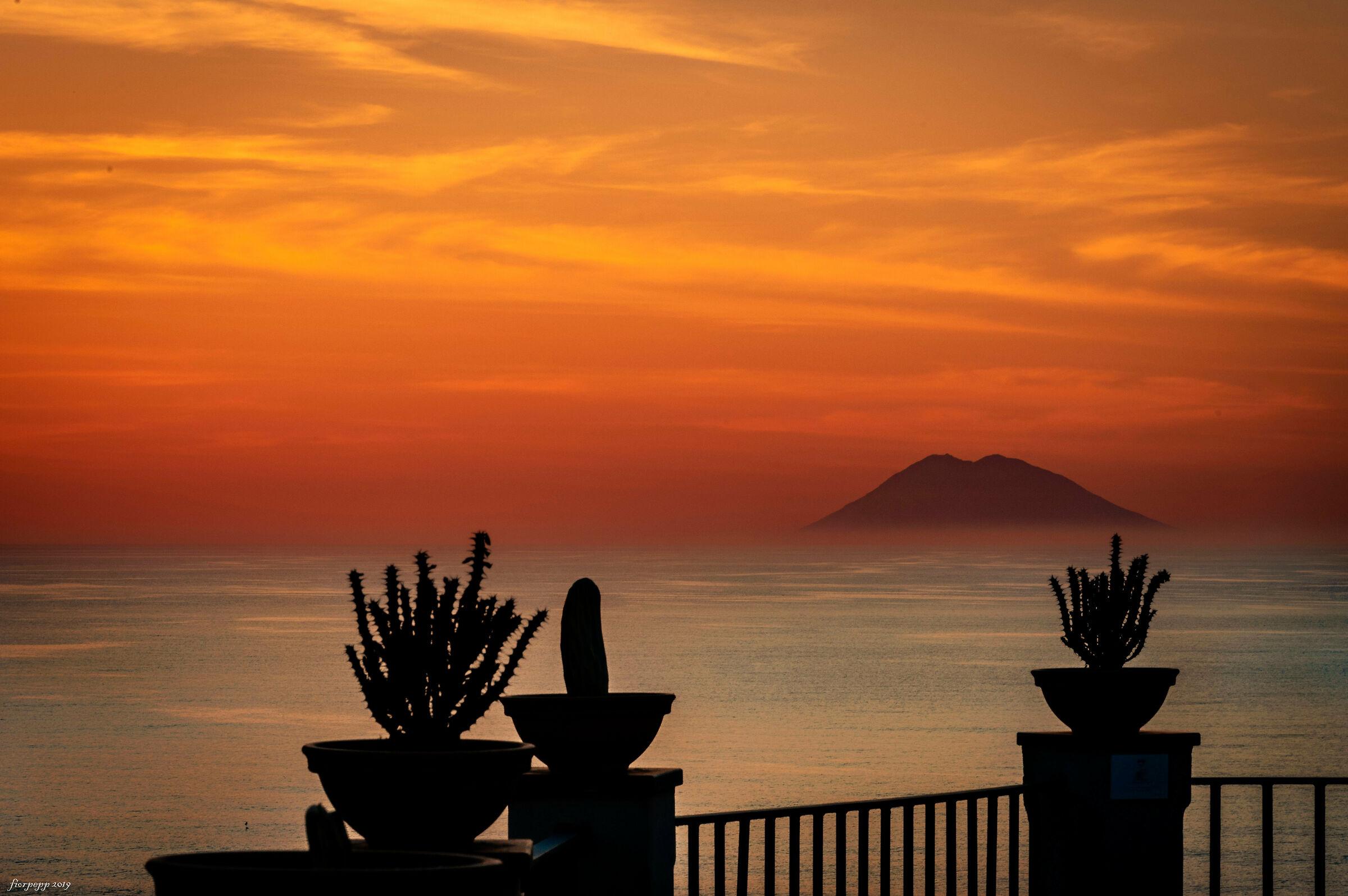 Terrace on the Stromboli...