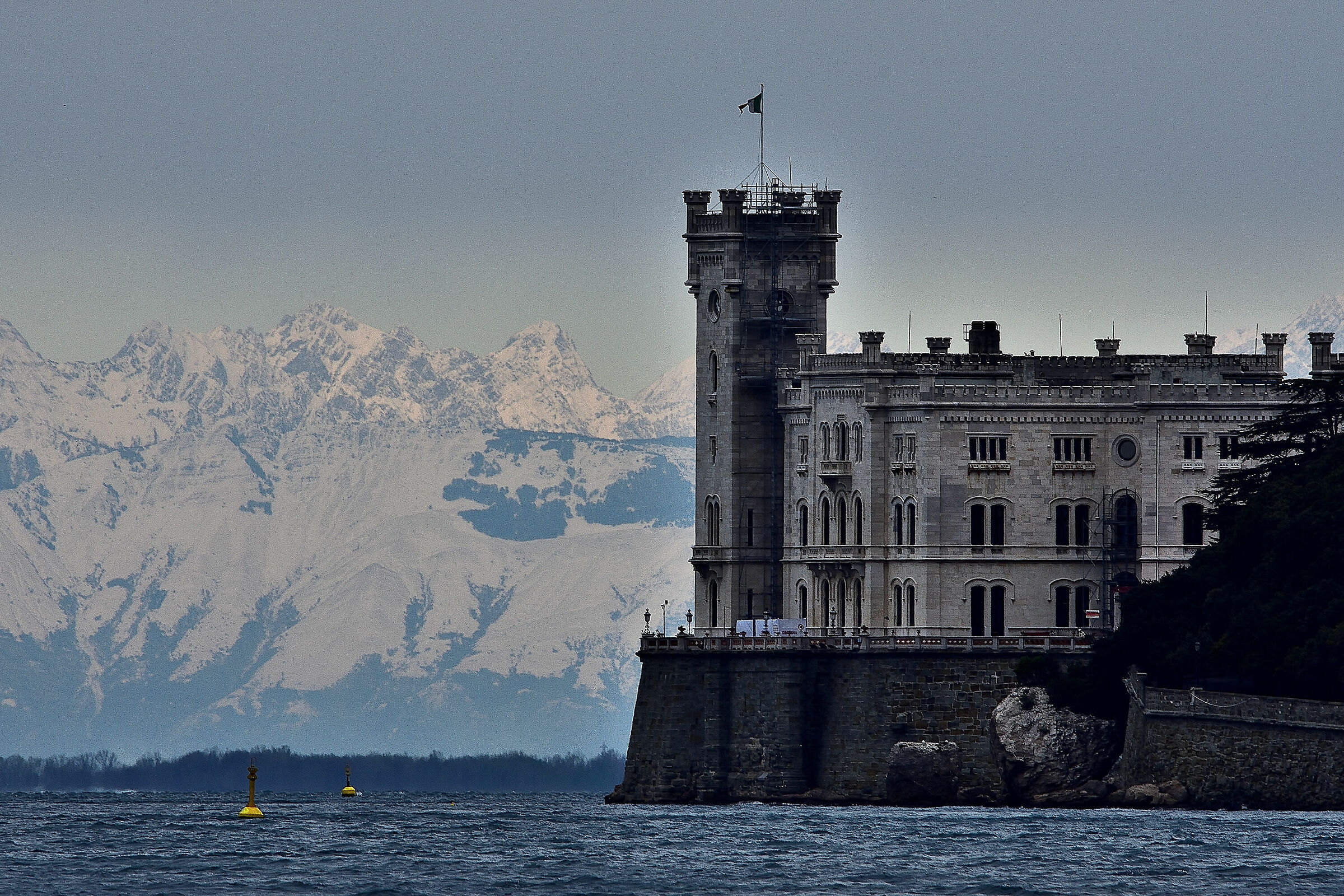 The Castle of Miramare in great shape...