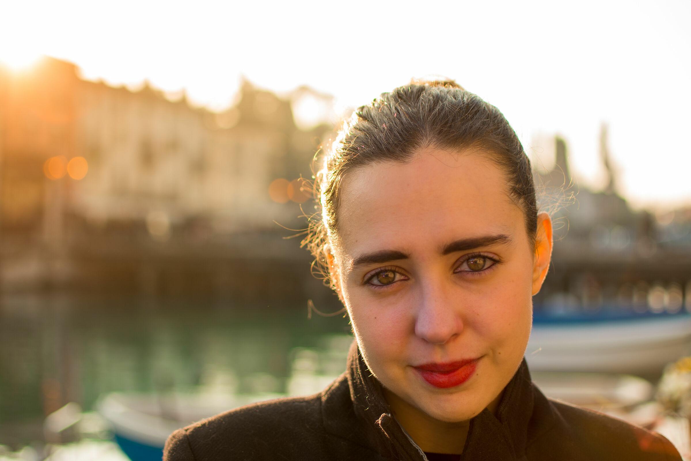 Silvia at sunset...