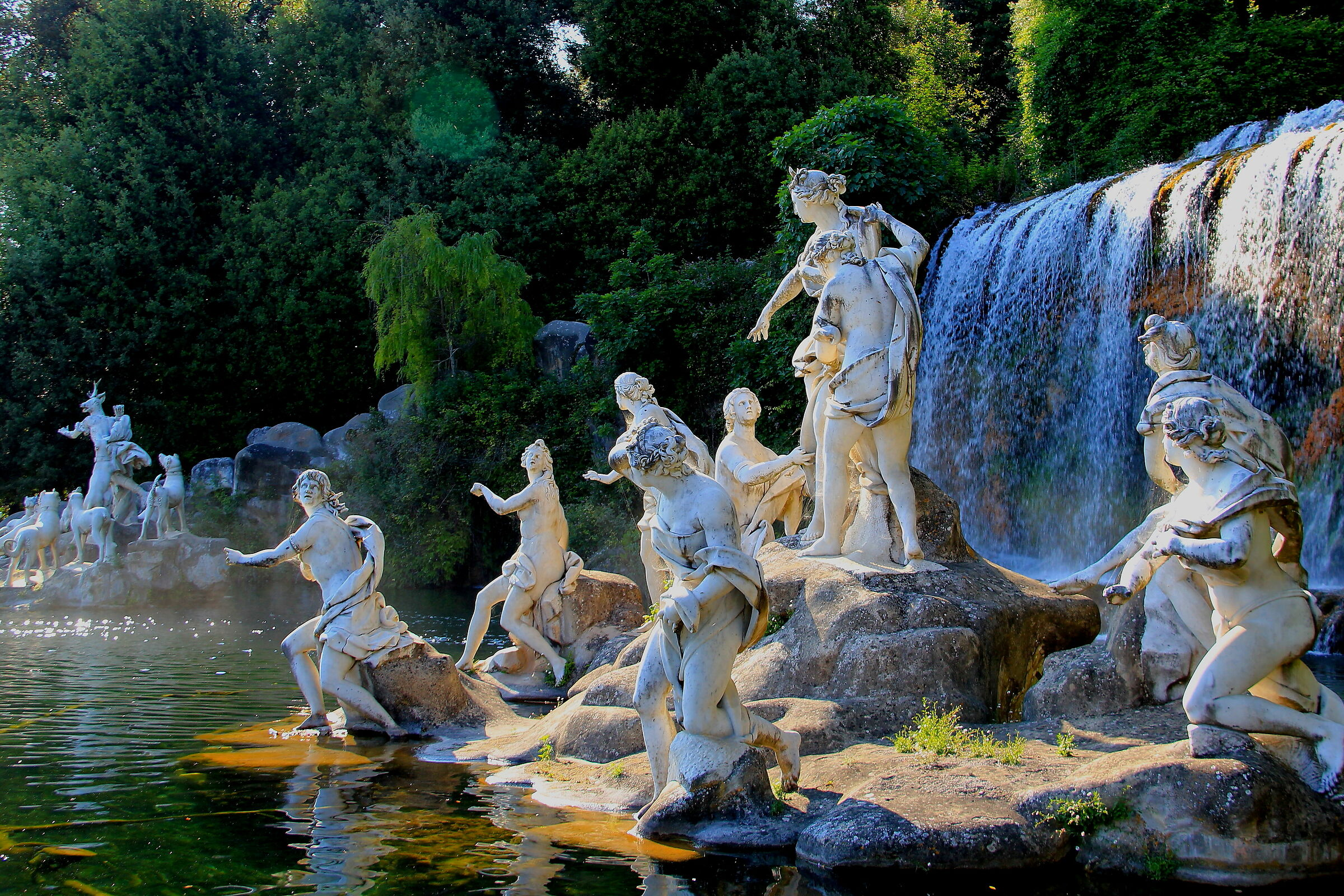 Caserta. The Fountain of Diana and Actaeon...