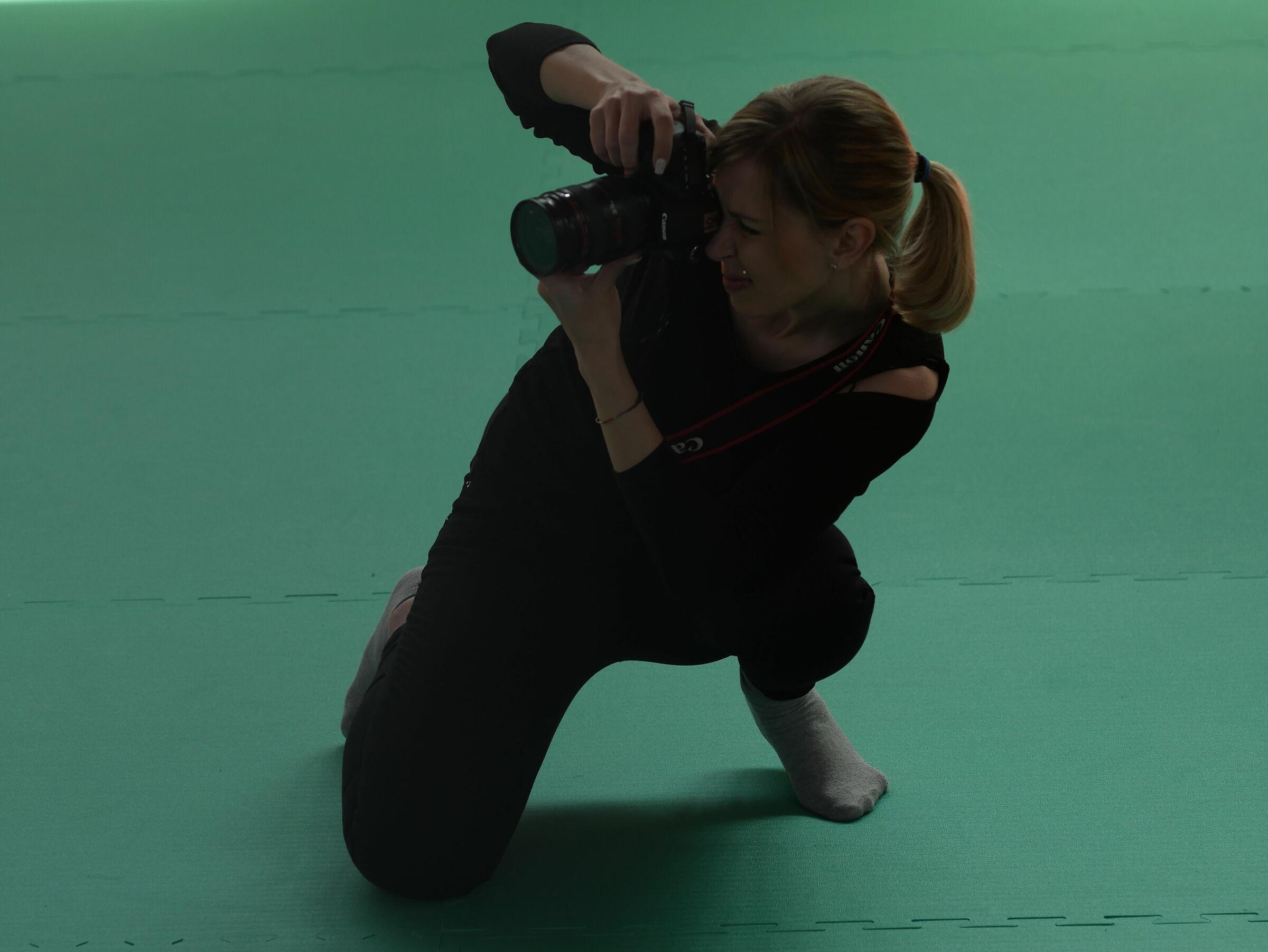 A ninja at the judo tournament...