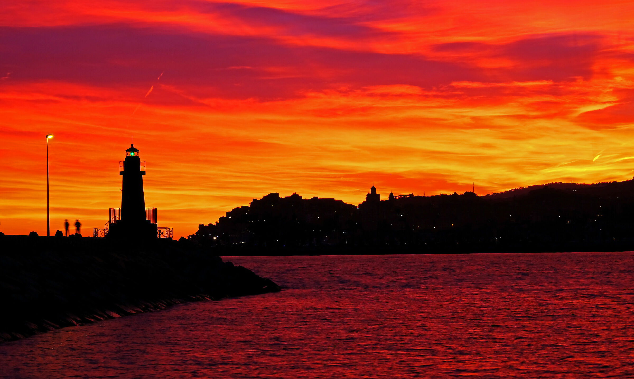 The Magic of a Fiery Sunset...