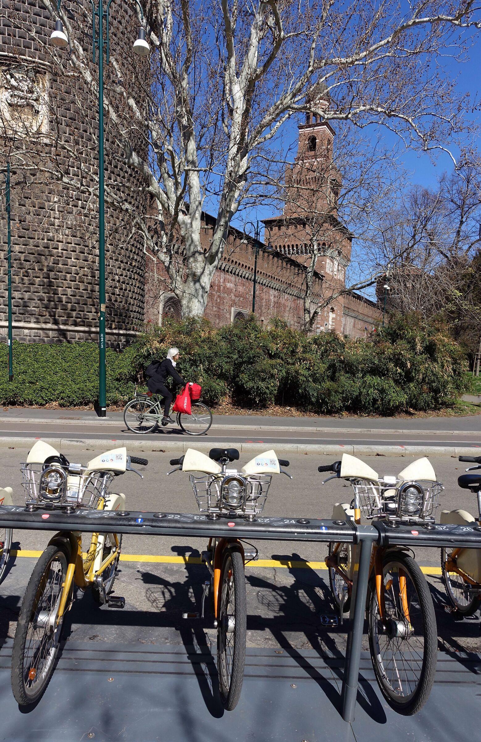 Milan. City bike. ...