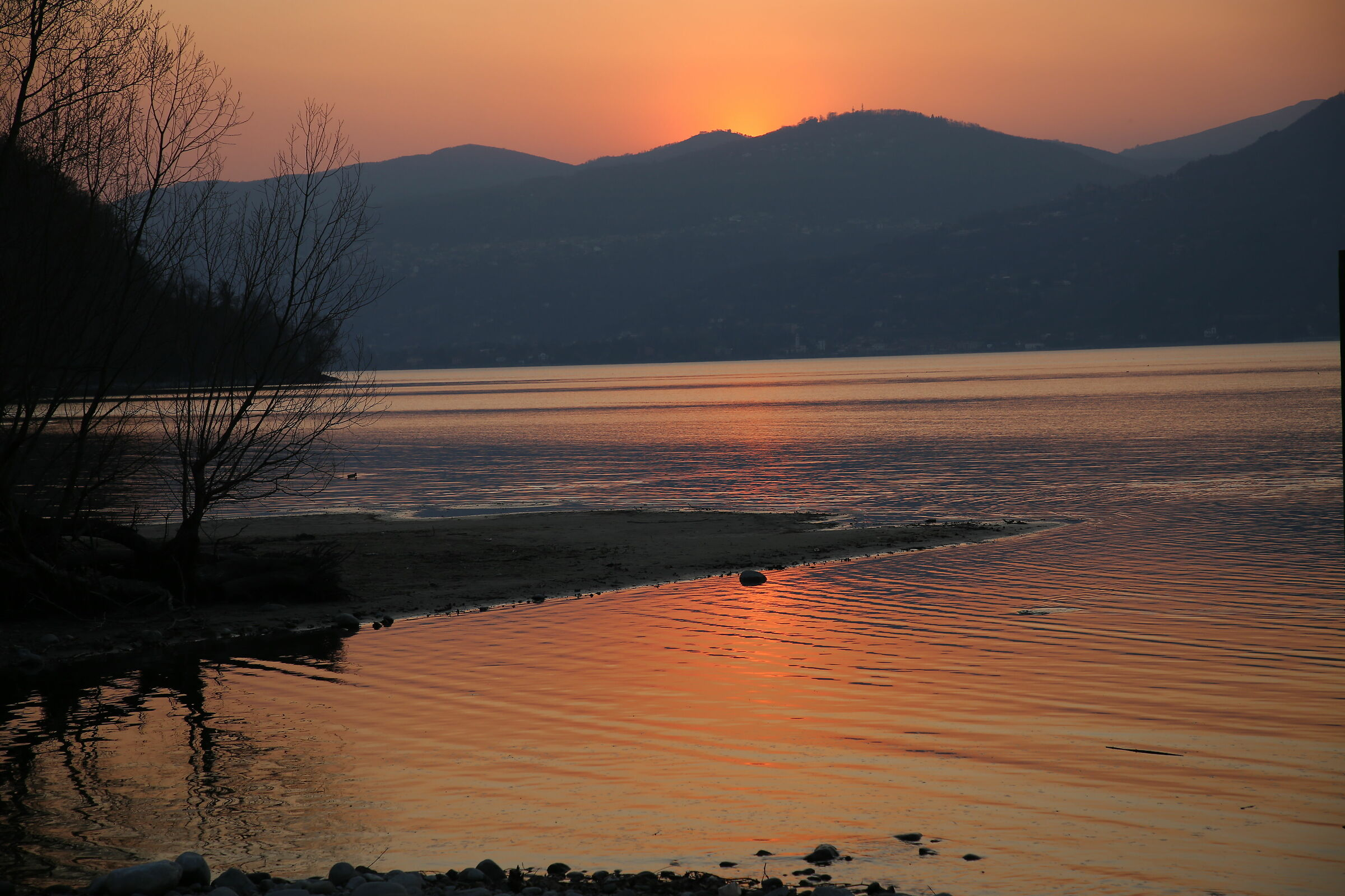 Sunset on Lake Maggiore...