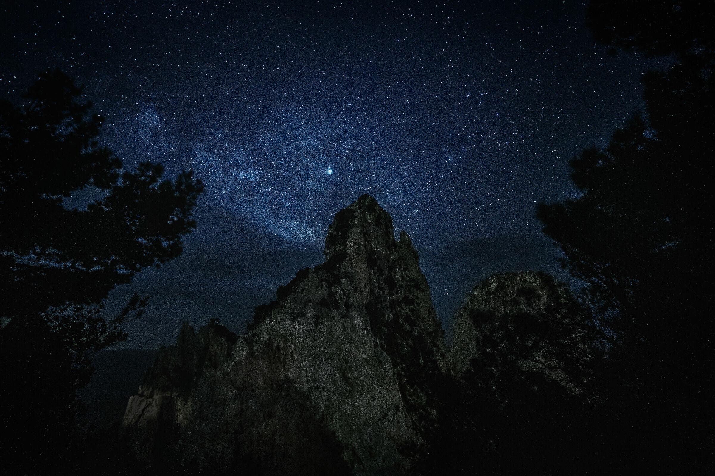 La mia prima Via Lattea sui faraglioni di Capri...
