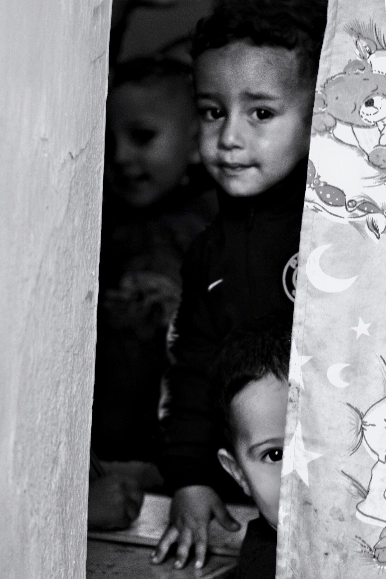Children look at us...