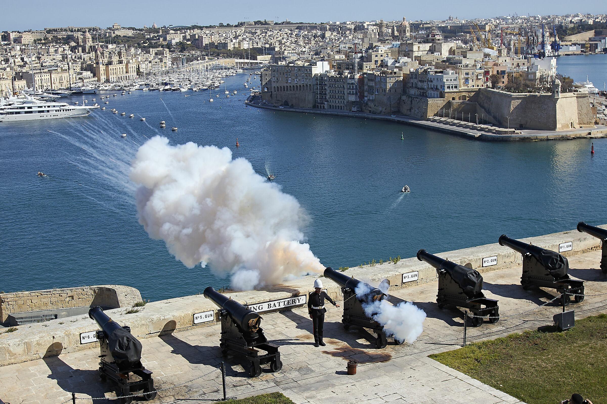 Port of Valletta Malta...