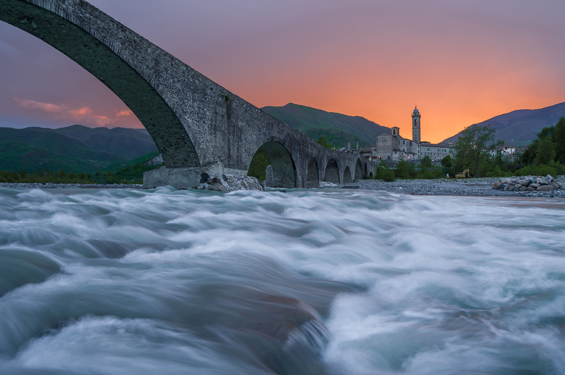 On the banks of the Trebbia...