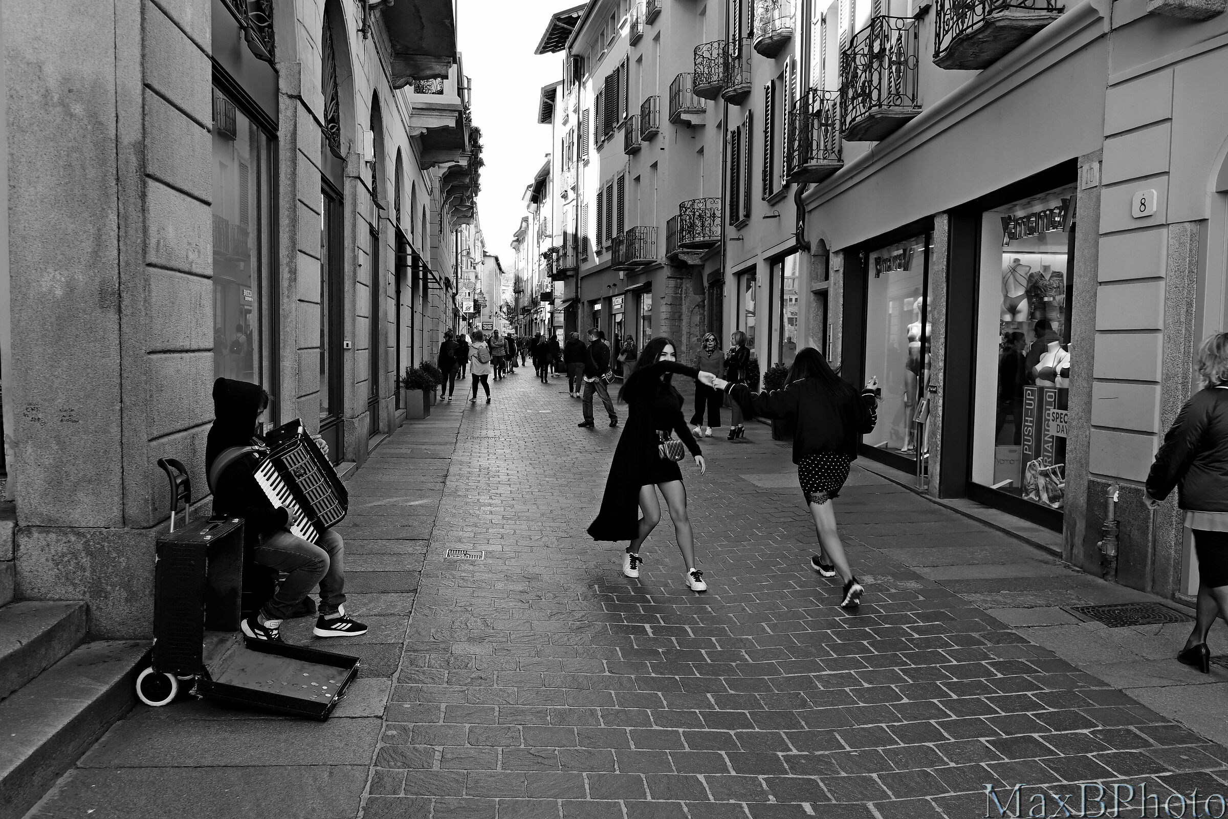 Dancing on the street...