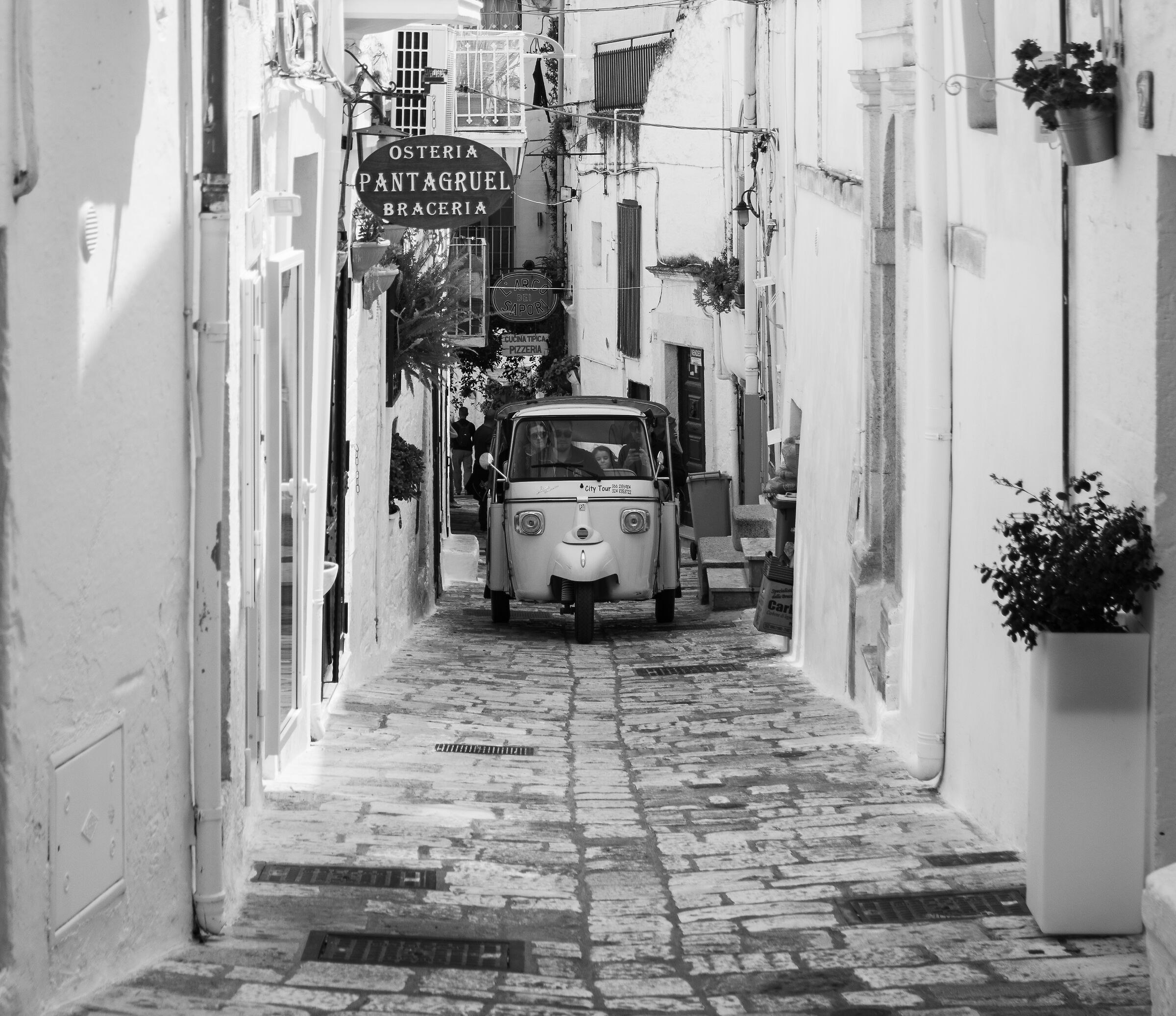 Through the streets of Ostuni...
