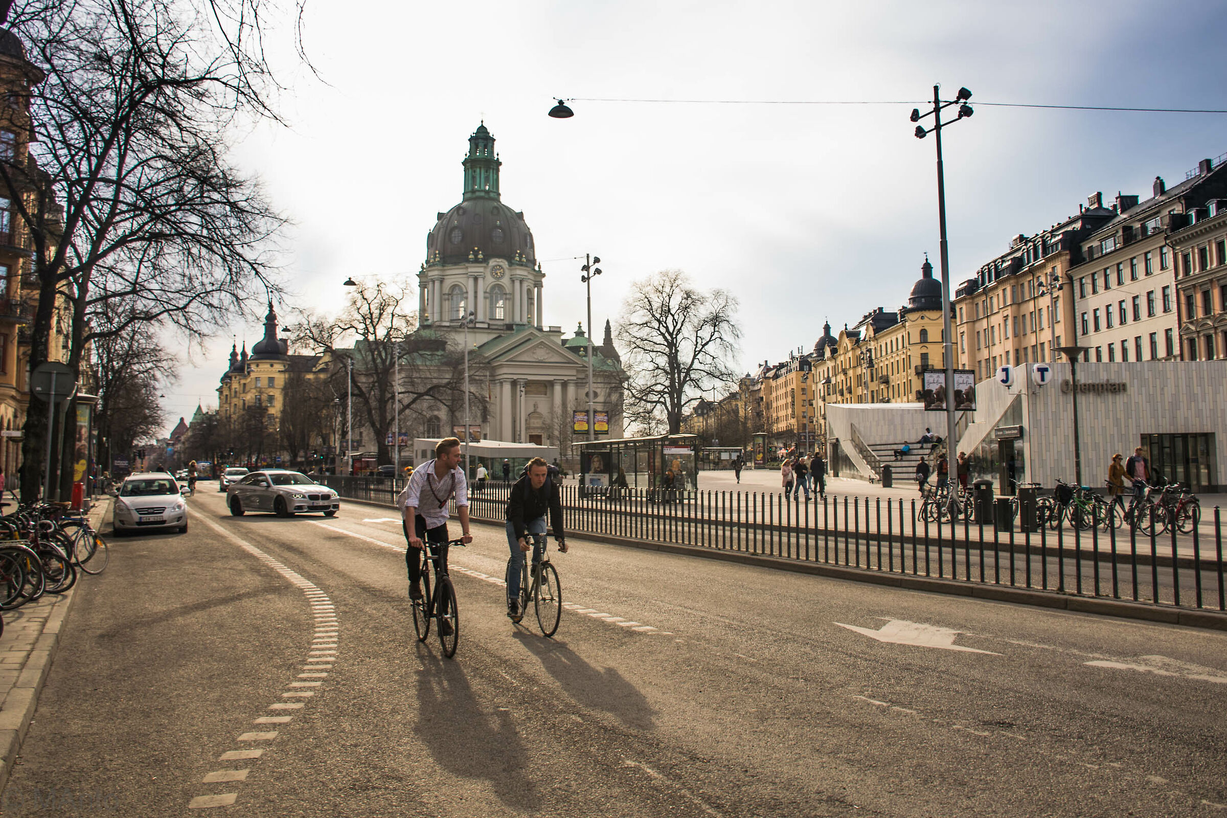 Cycling in the city...