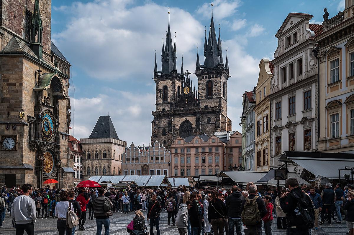 Prague-old Town square...