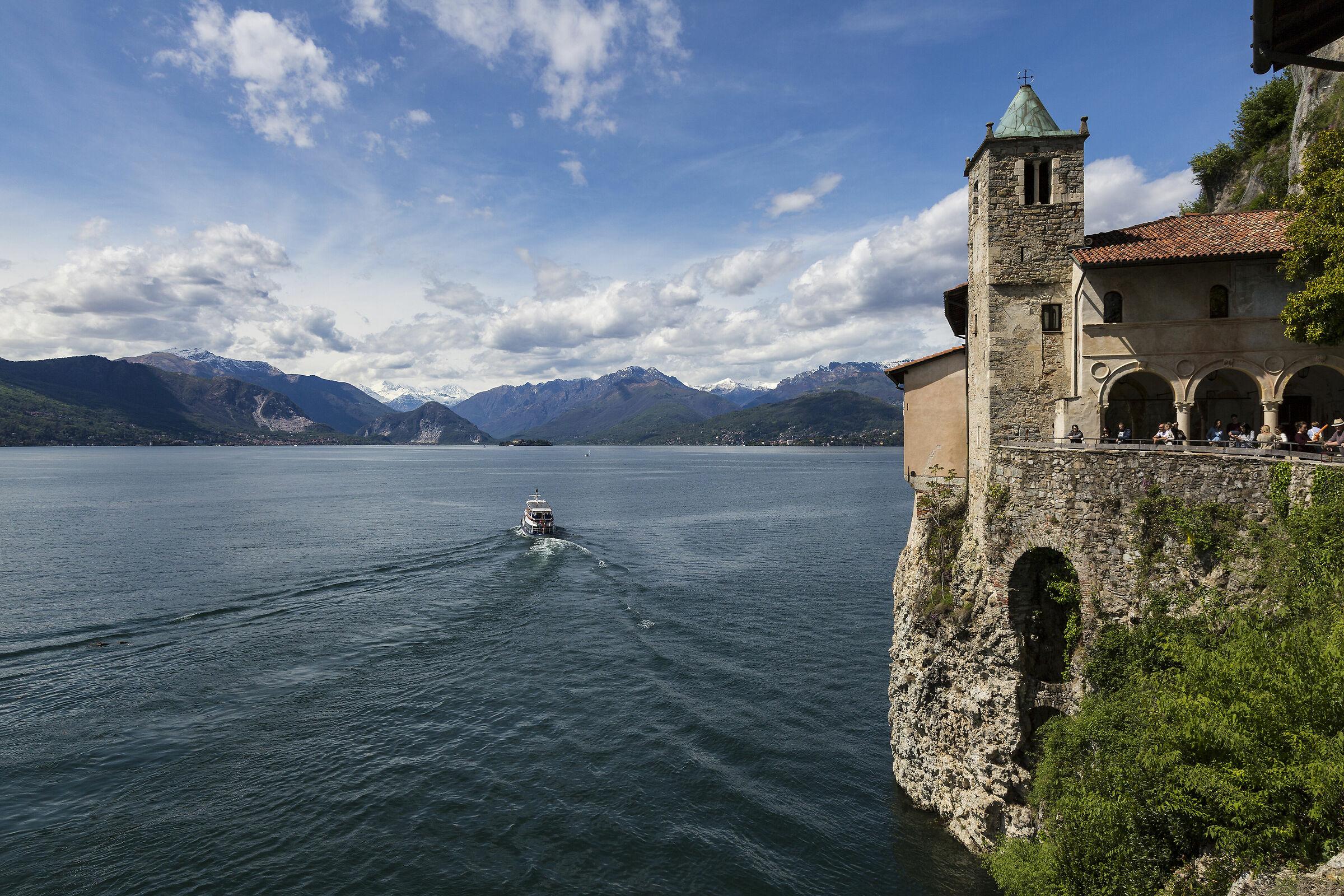 Lake Maggiore and its hermitage....