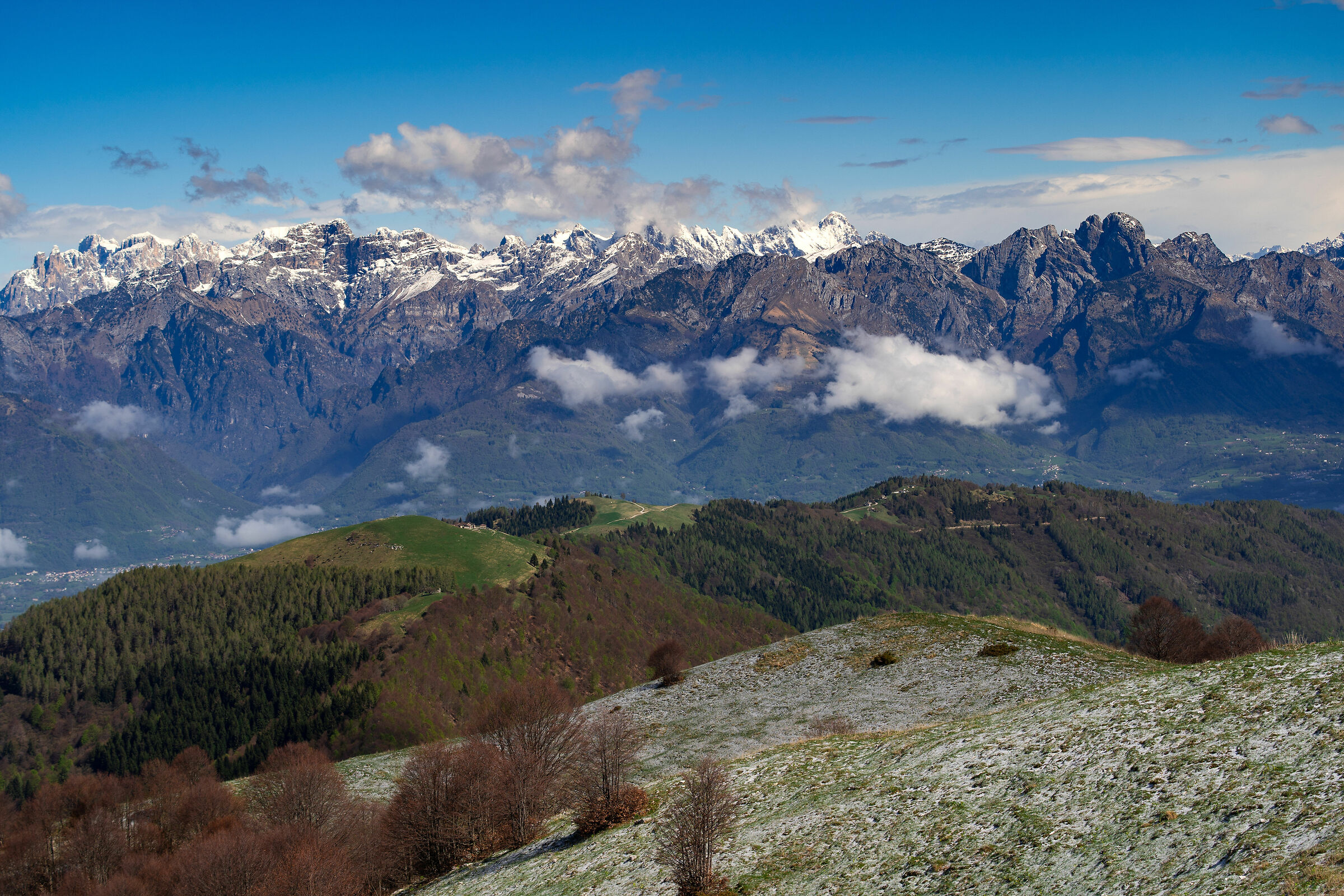 View from Mt. Cesen northwards...