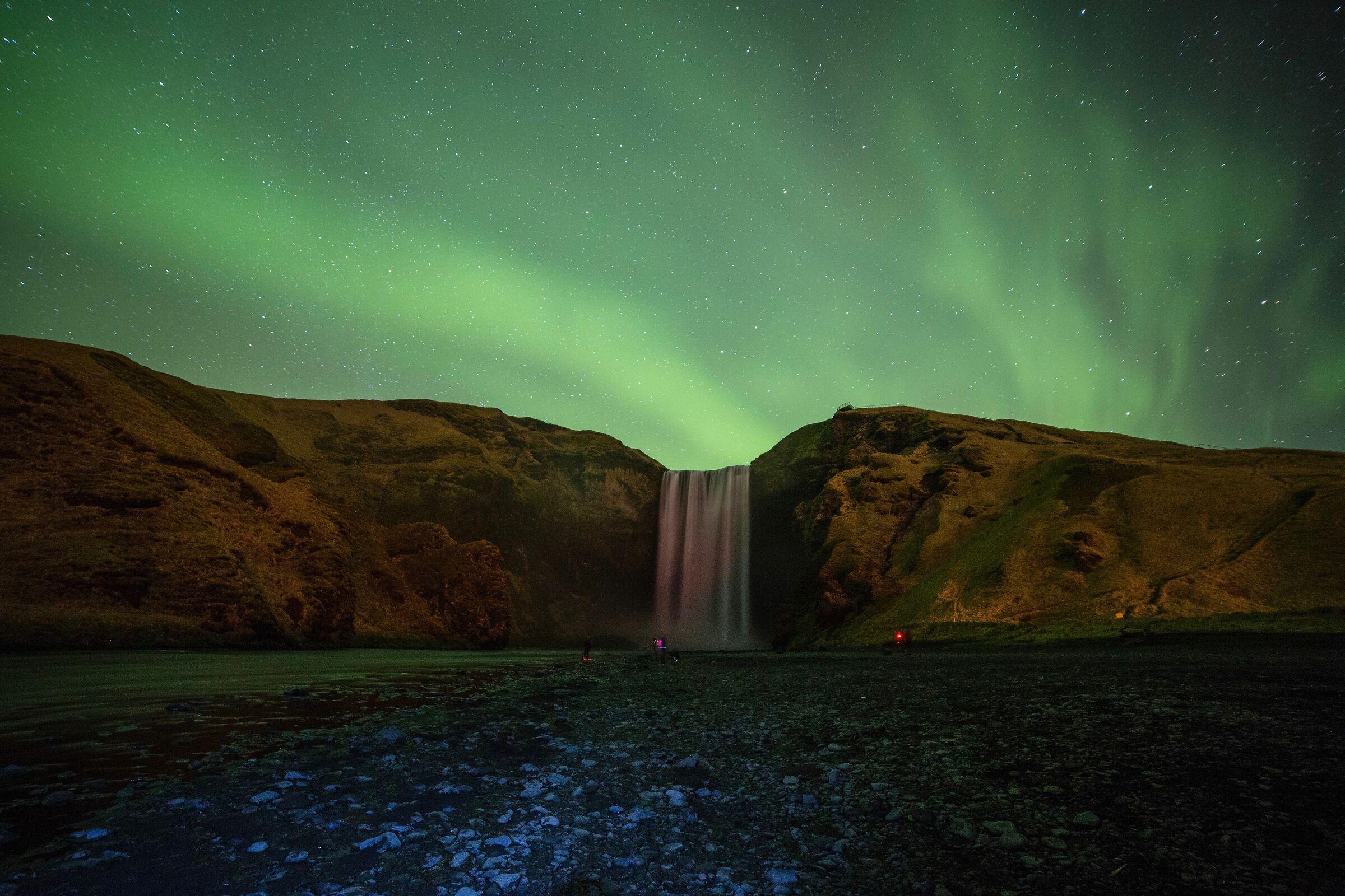 Waterfall and lights...
