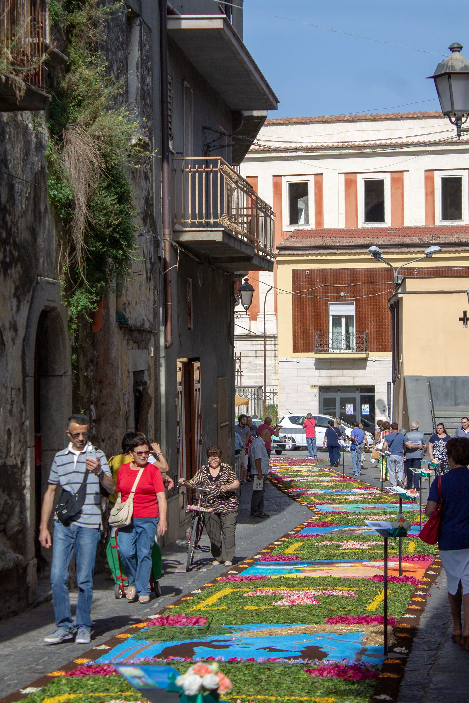Infiorata in the Casale of Sant'Angelo-Mondragone...
