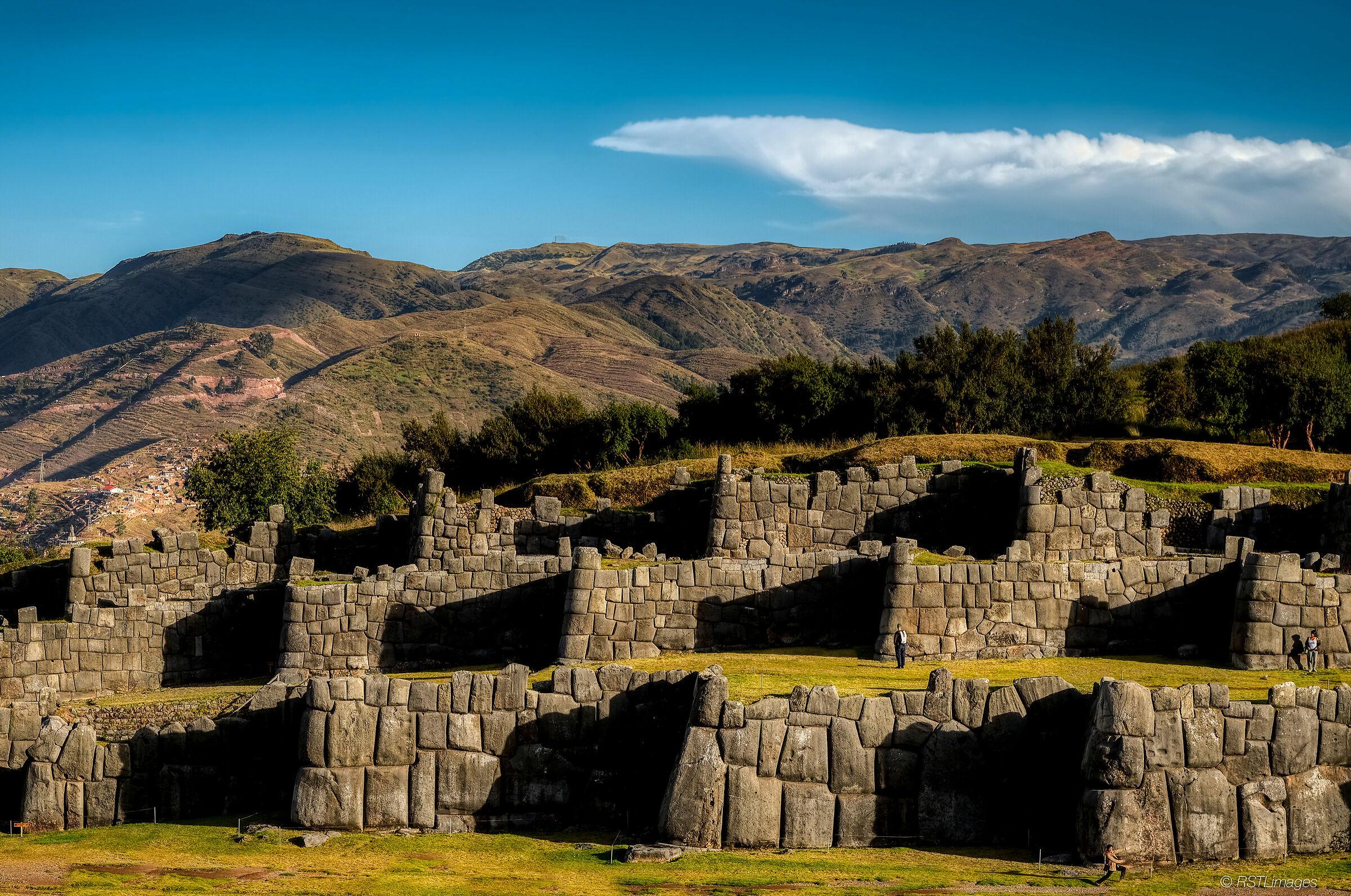 Ruins at Sacsayhuaman...