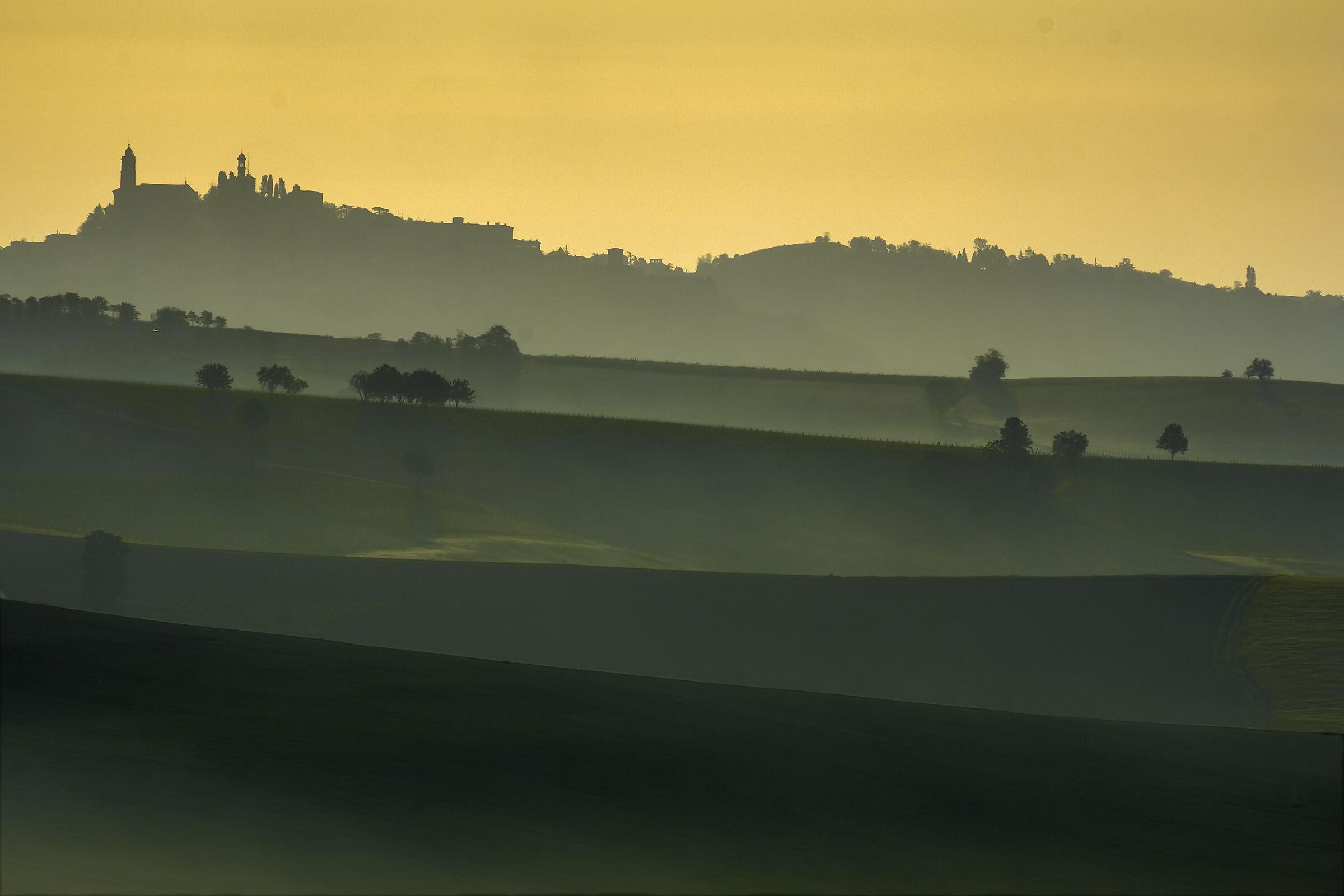 The first lights of dawn illuminate the scene...