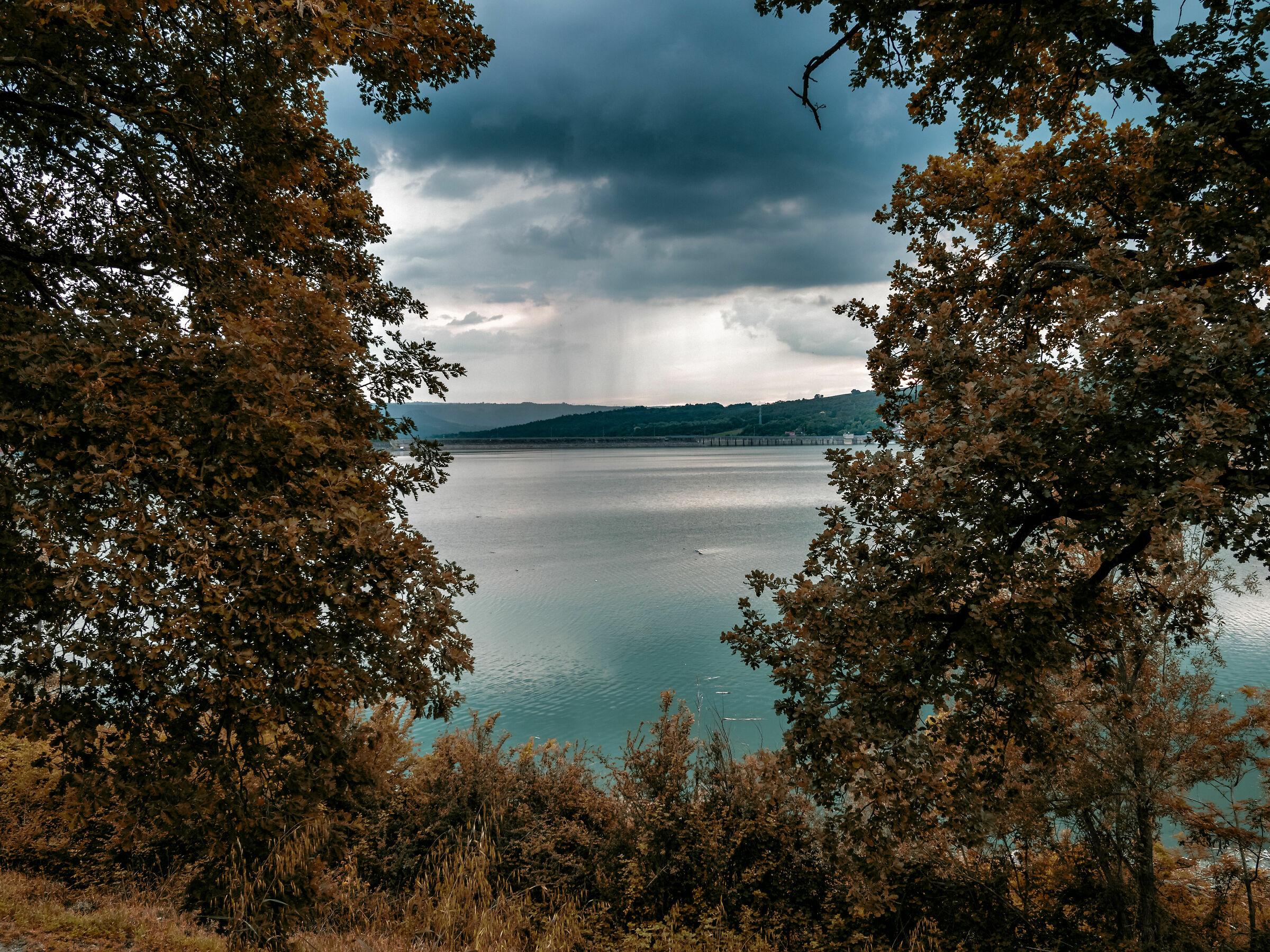 The rain over the dam...