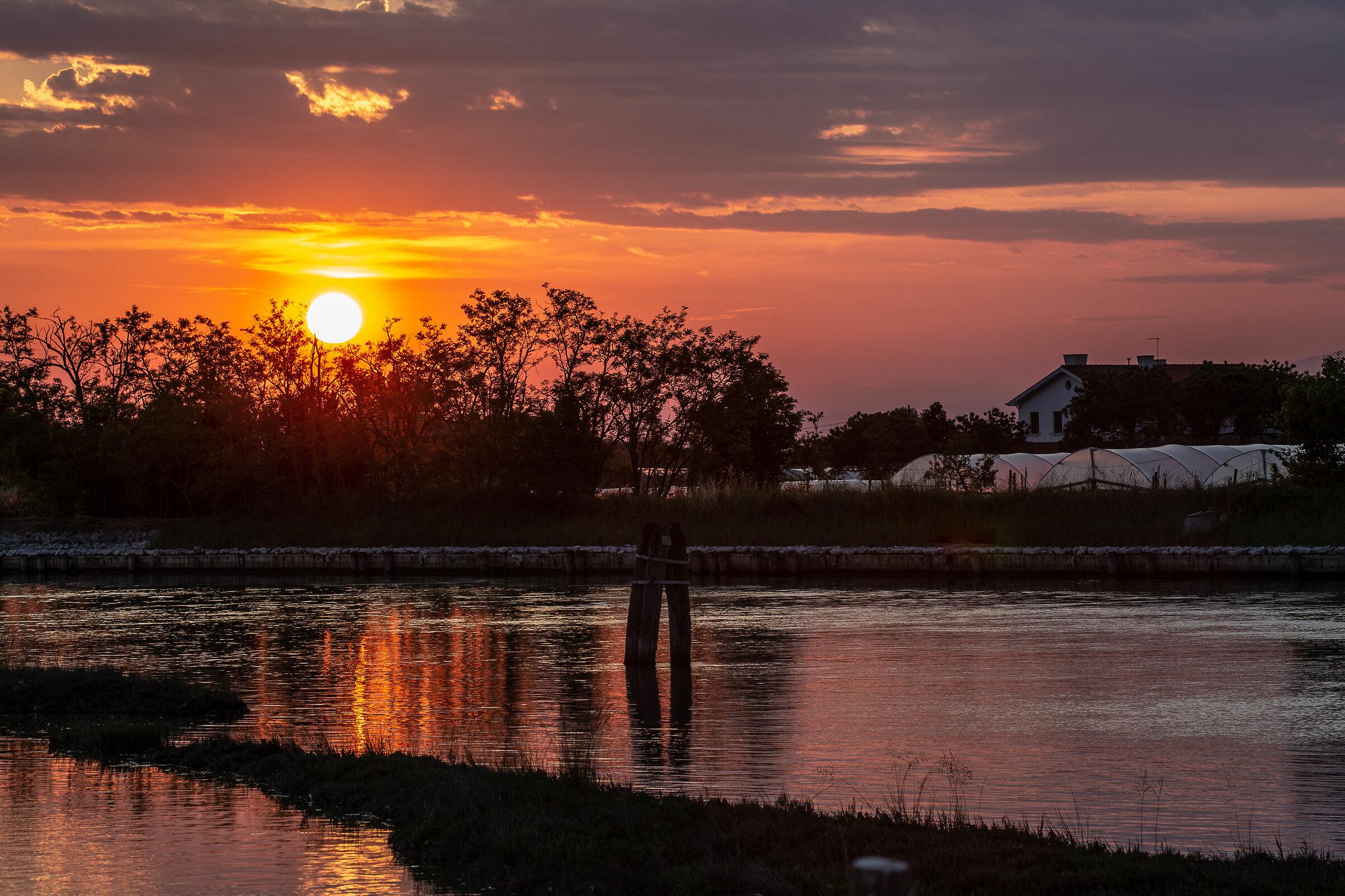North Lagoon at sunset...