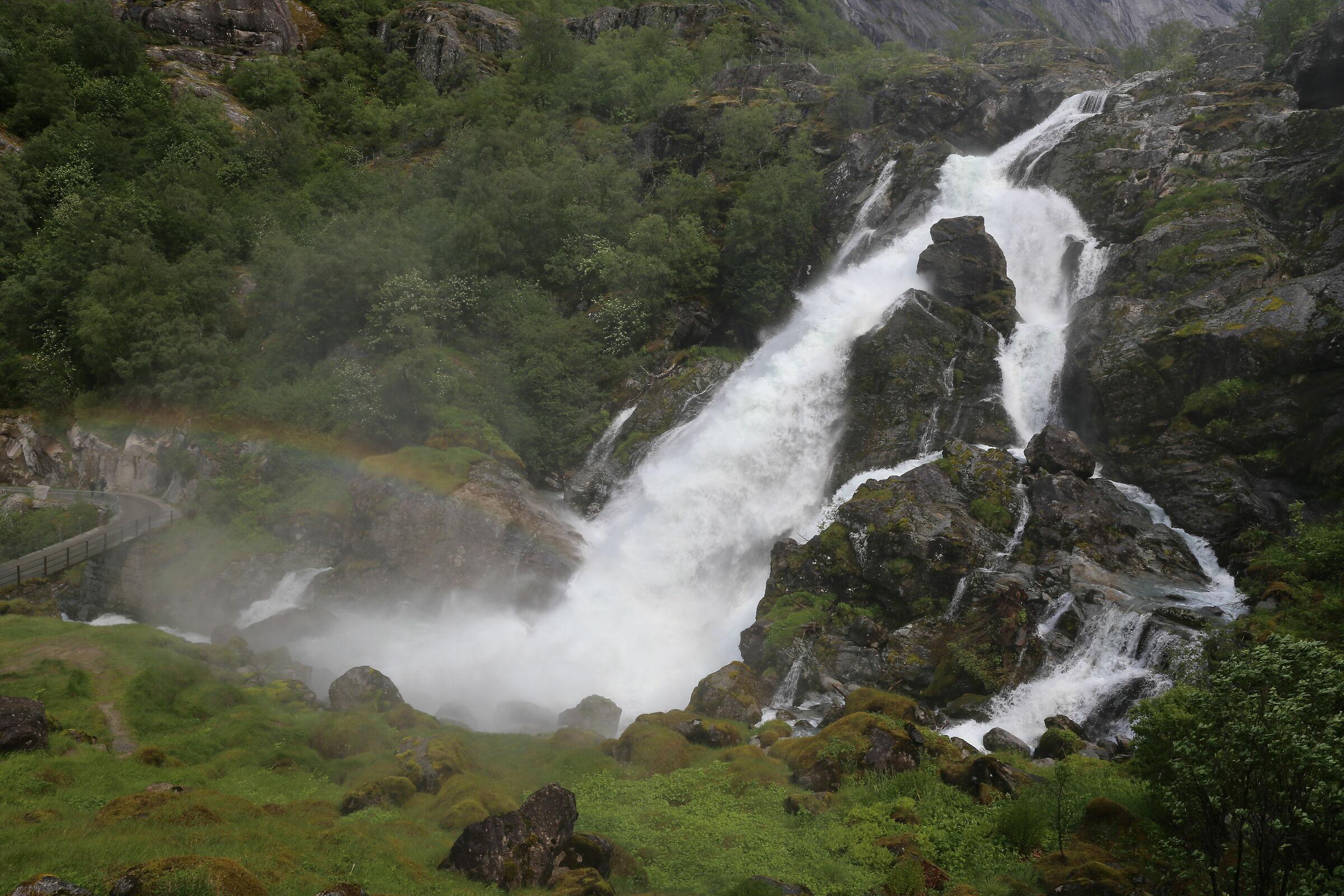 Waterfall with Rainbow...