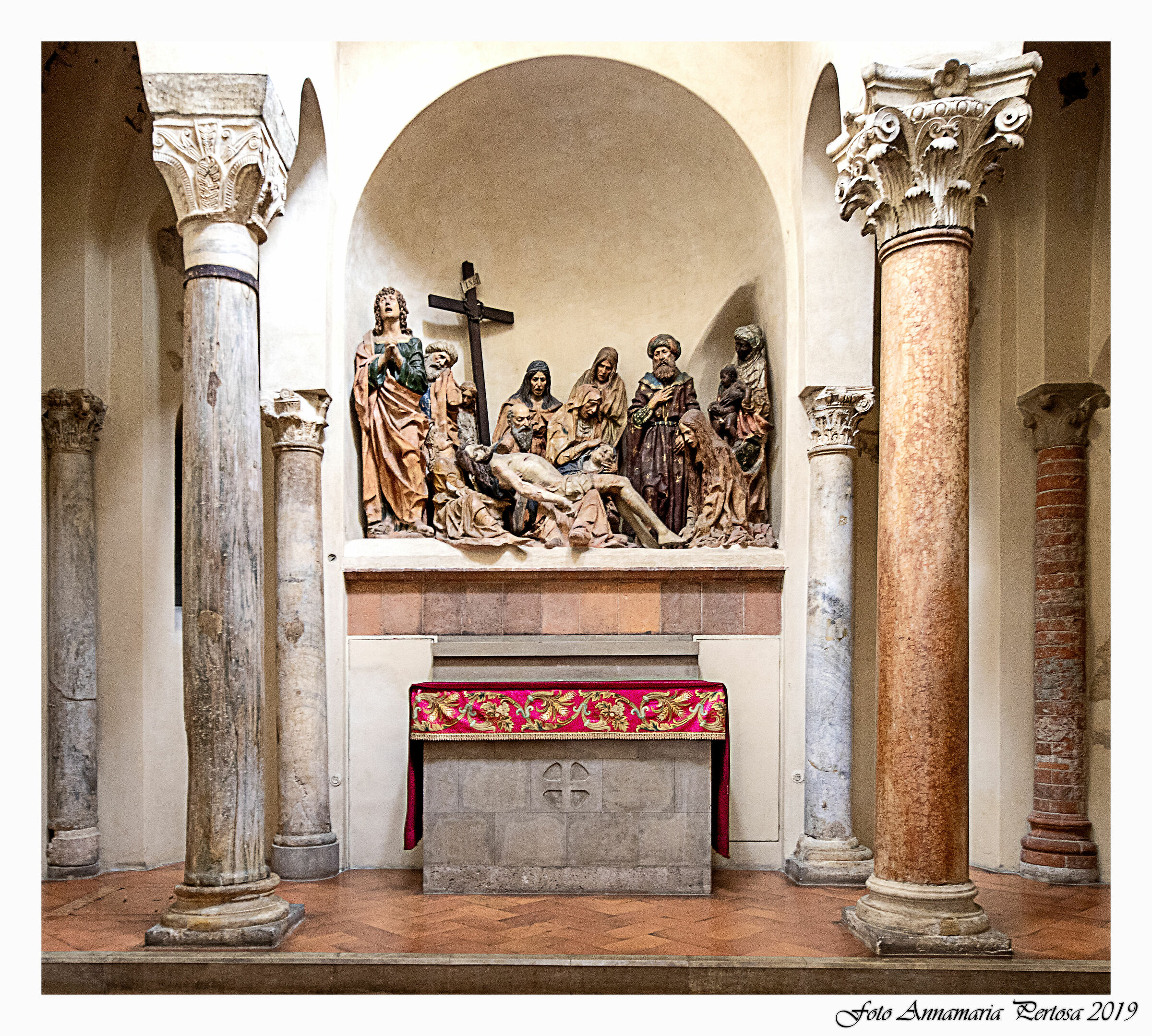San Satiro: The group of the Pietà...