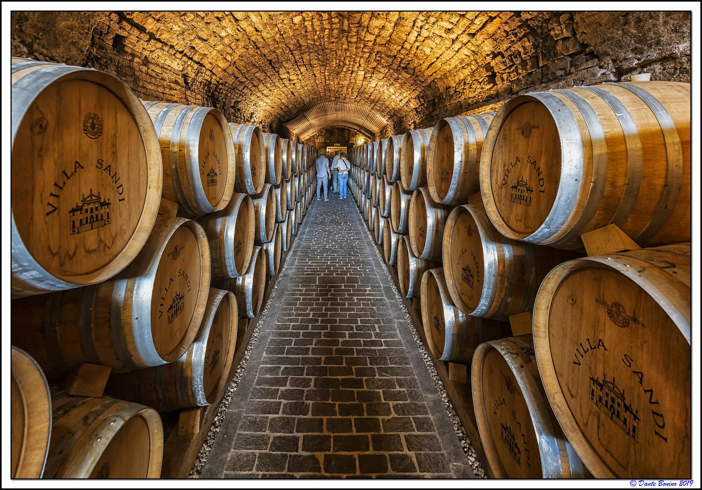 The cellars of Villa Sandi...