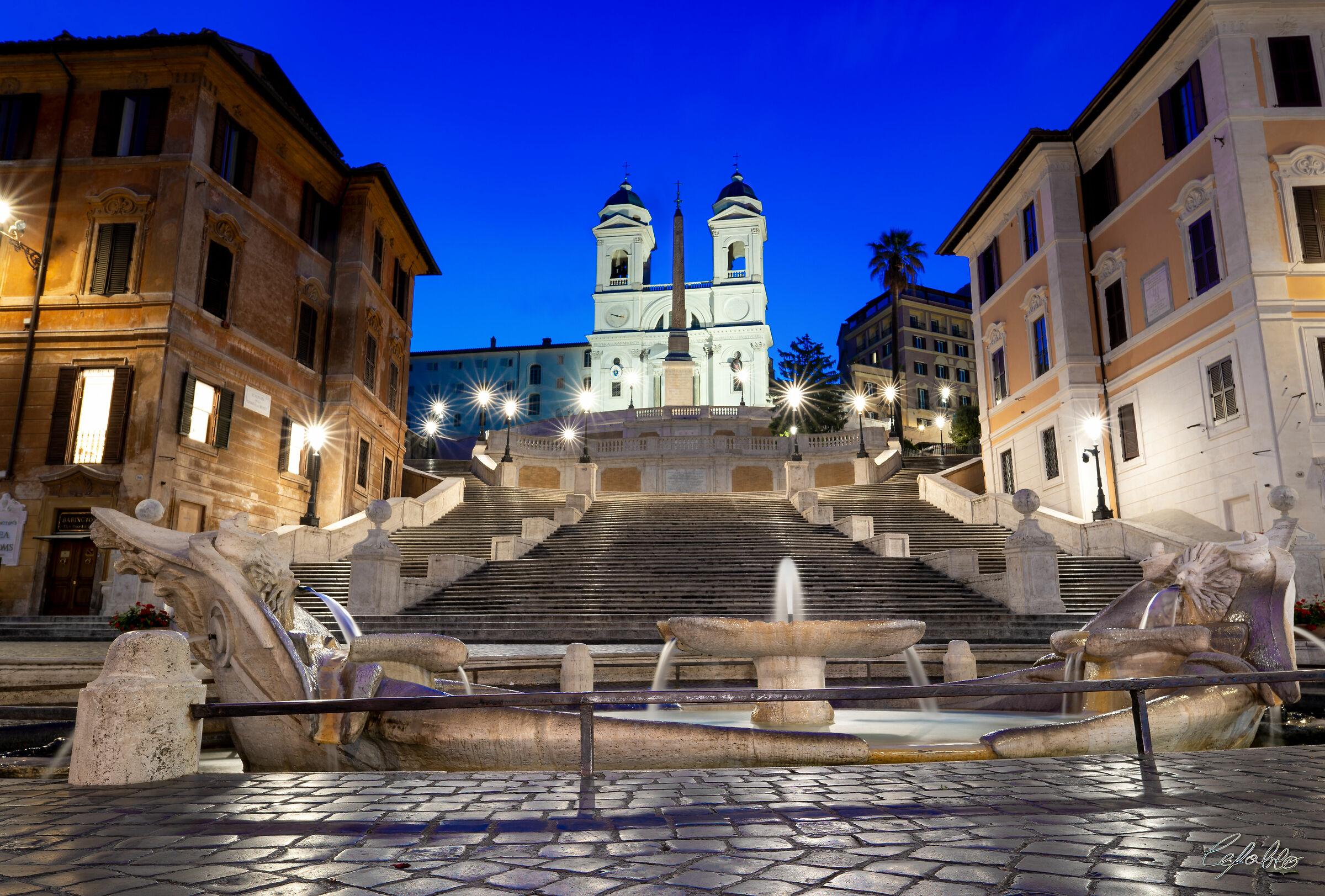 Barcaccia and Trinita dei Monti...