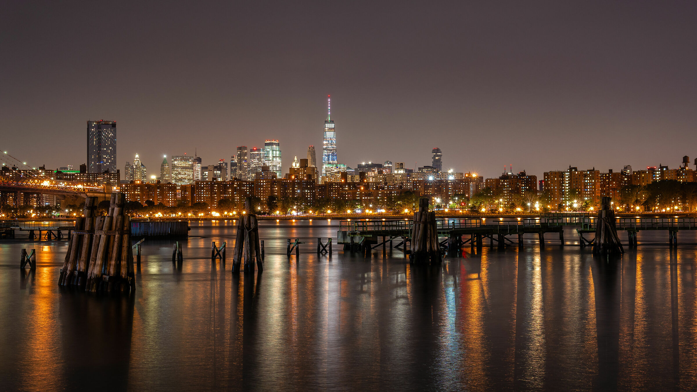 Lower Manhattan from North 5th Street Pier and Park...