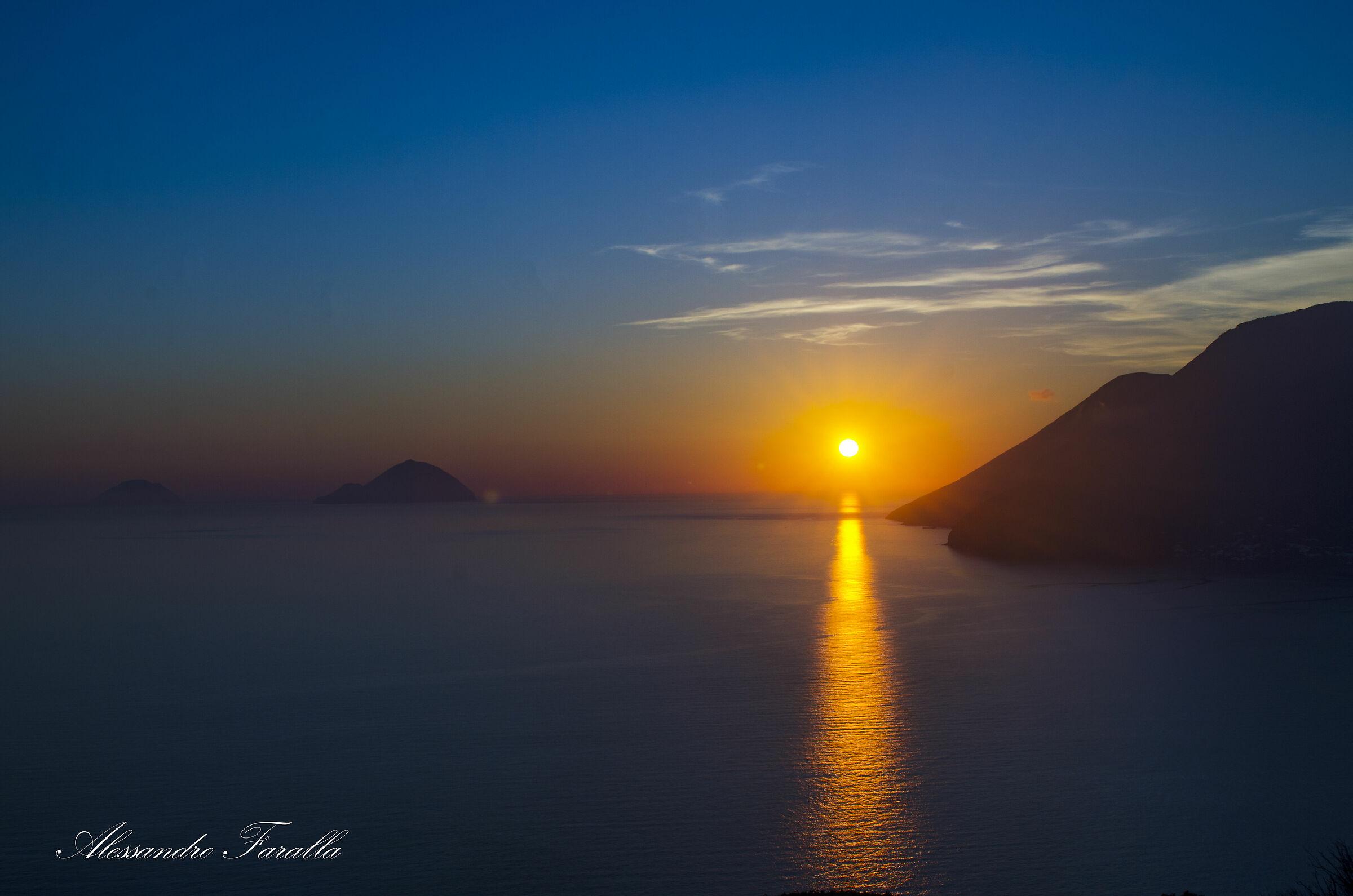 Sunset from Lipari...
