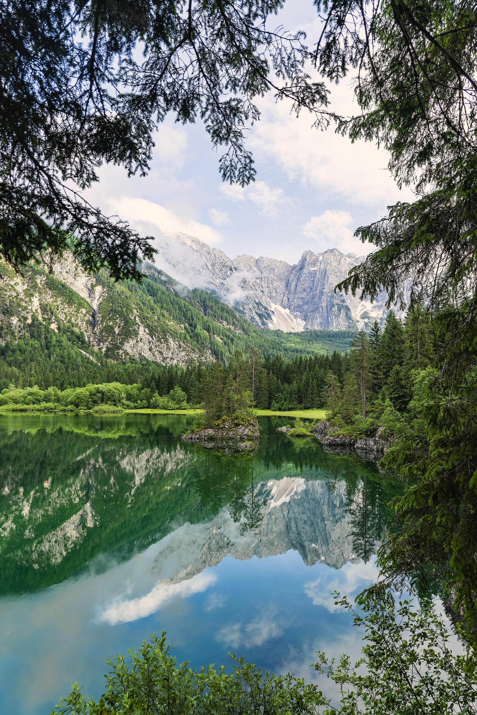 Specchiata al lago di Fusine...
