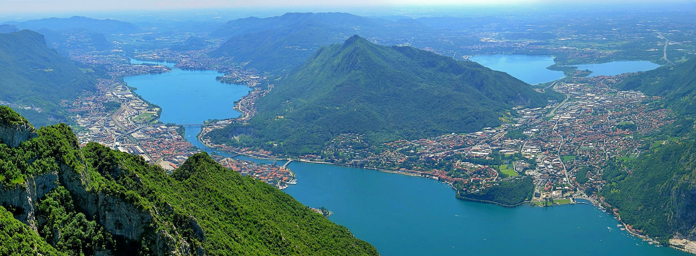 Lecco as seen from the Resinelli Plans...