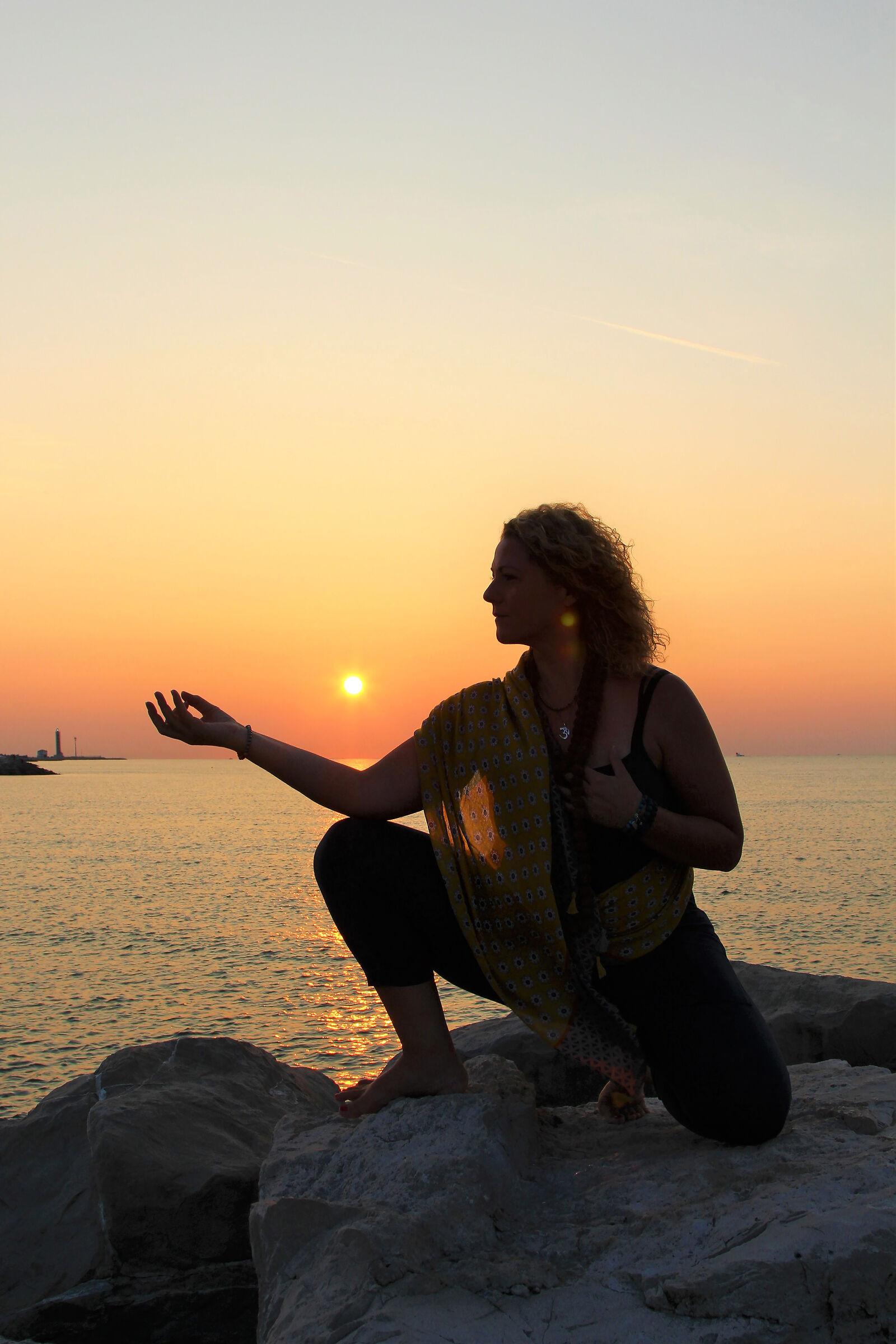 Yoga at dawn...