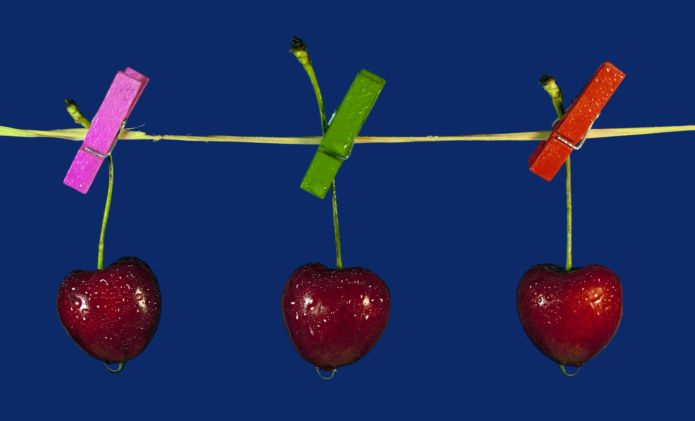 Cherries stretched out...