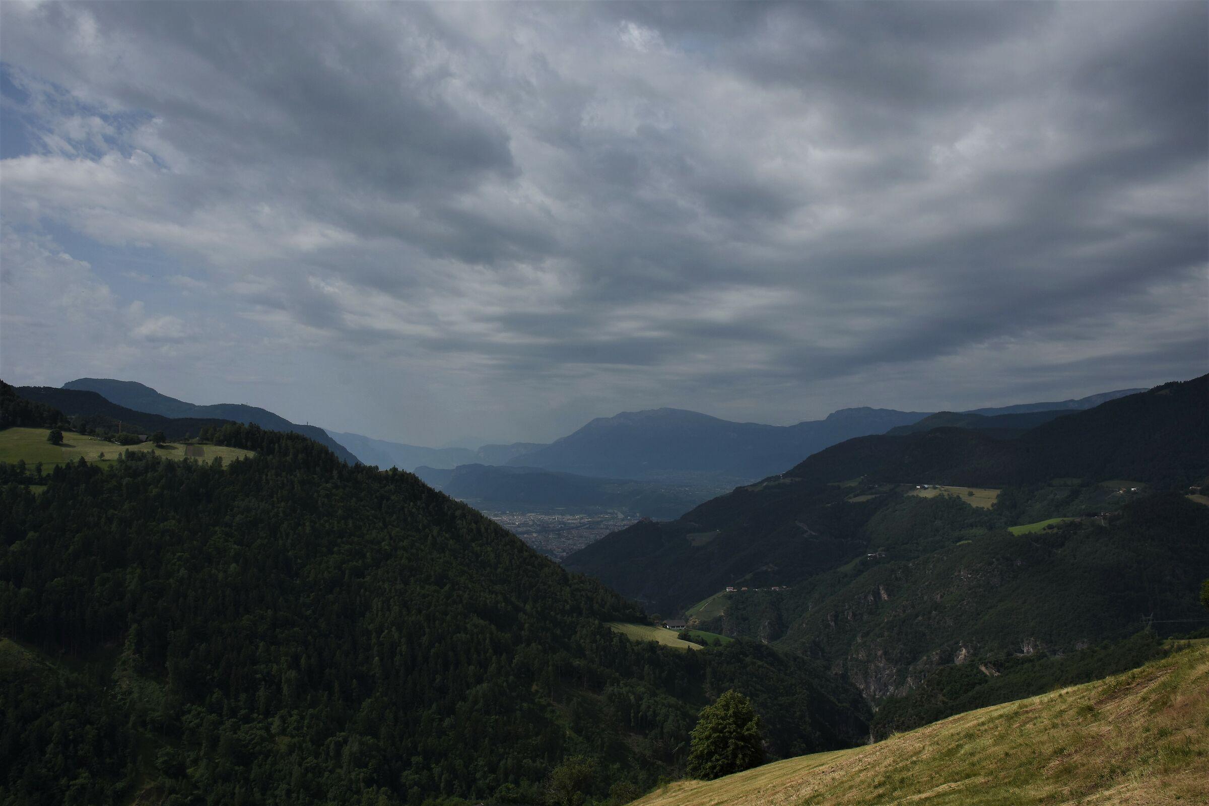 My gaze from Renon to Bolzano...