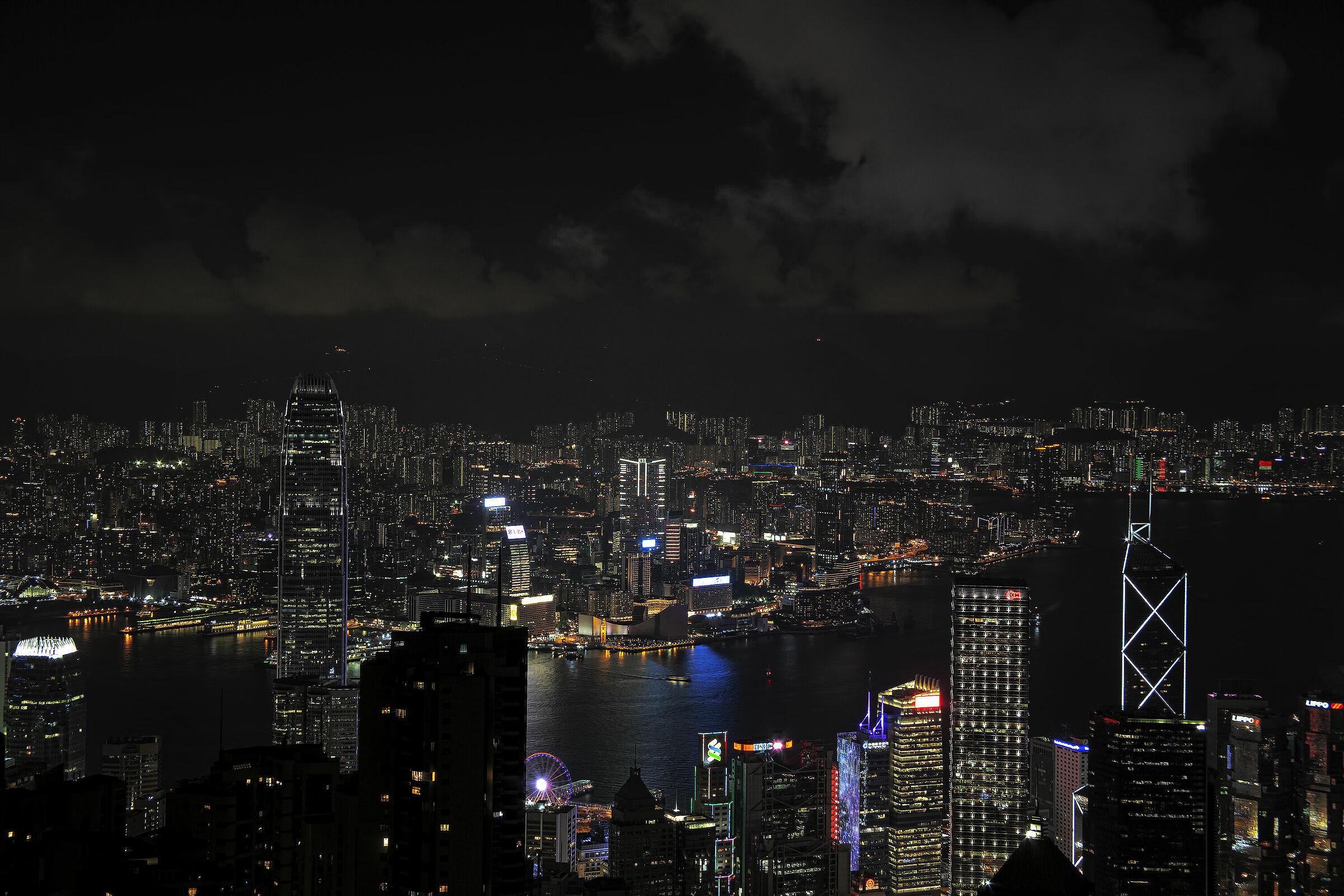 Hong Kong by night...