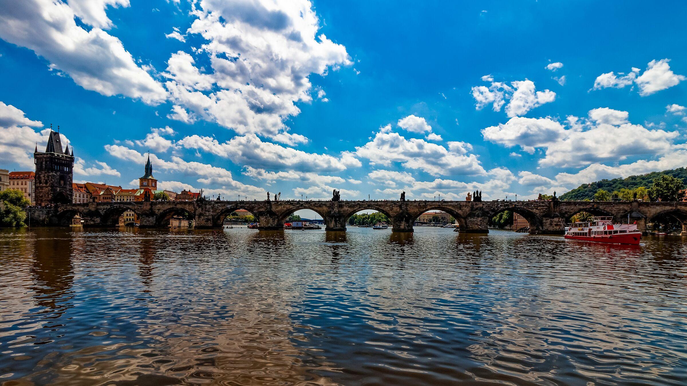 The sky above Prague...