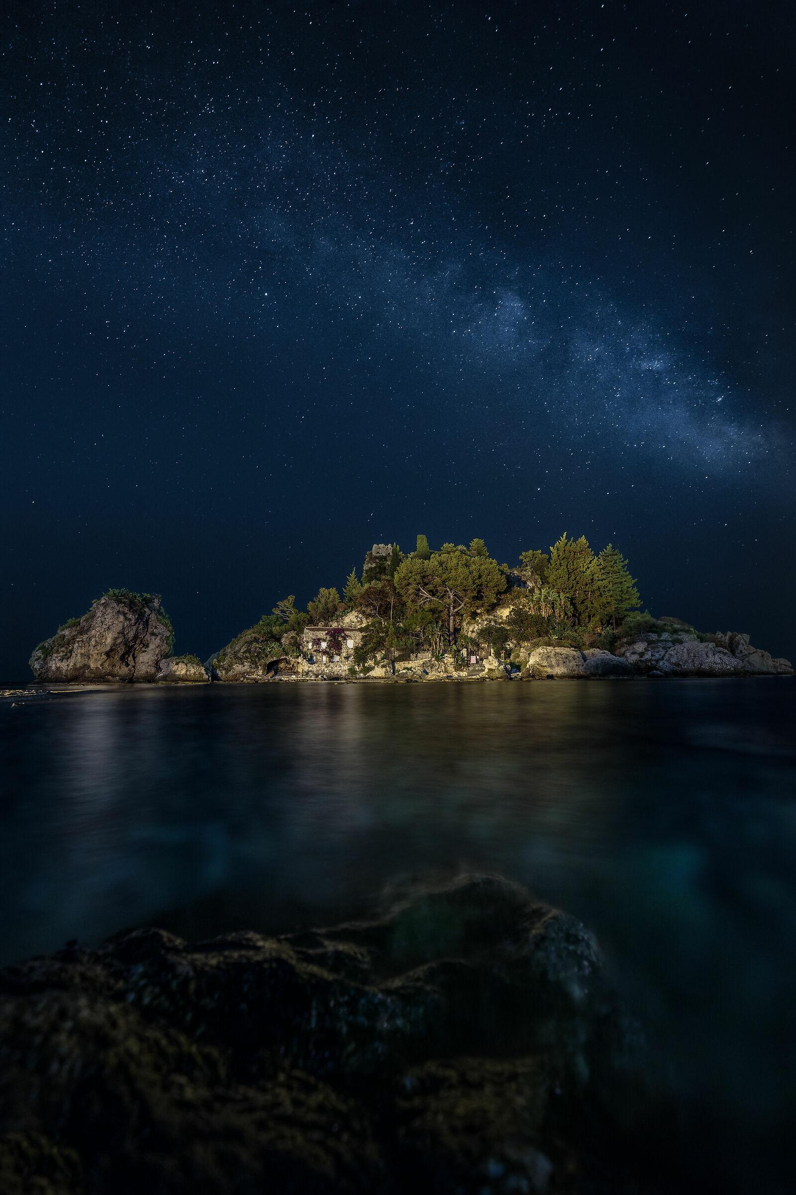 Beautiful Island with Milky Way...