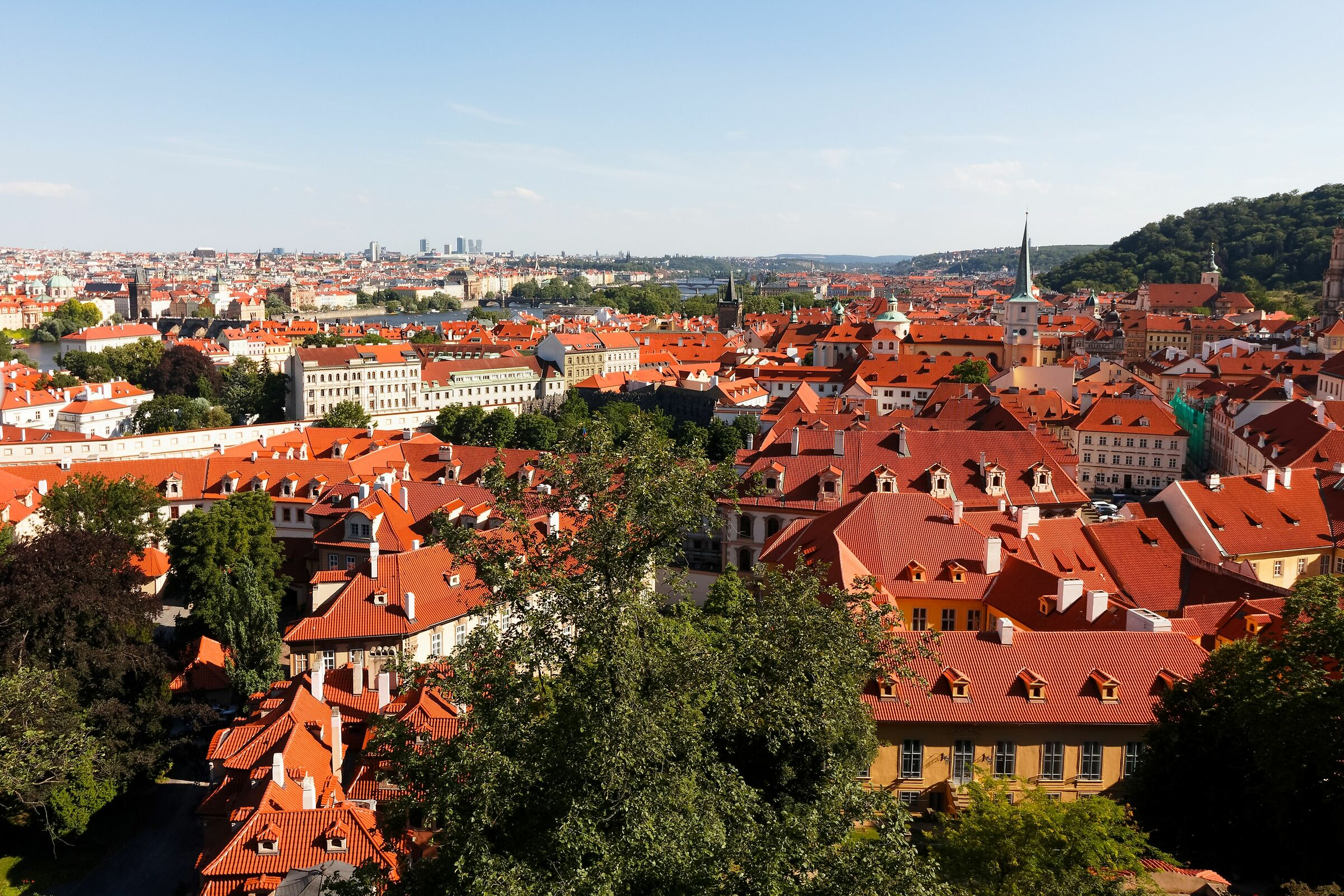 The rooftops of Prague...