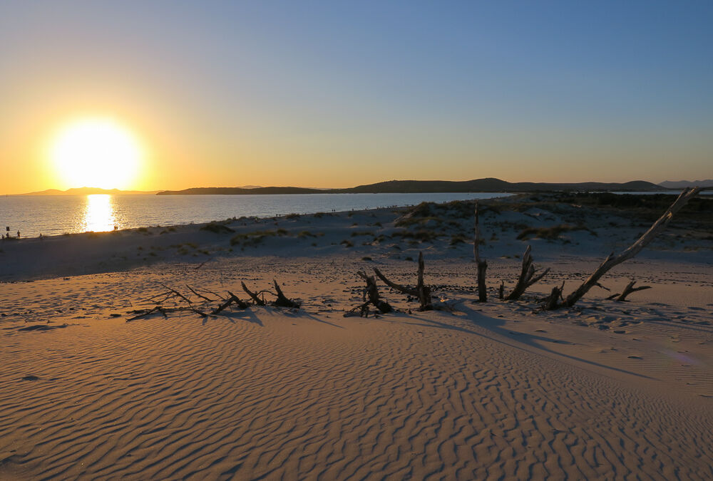 Sunset over the dunes...