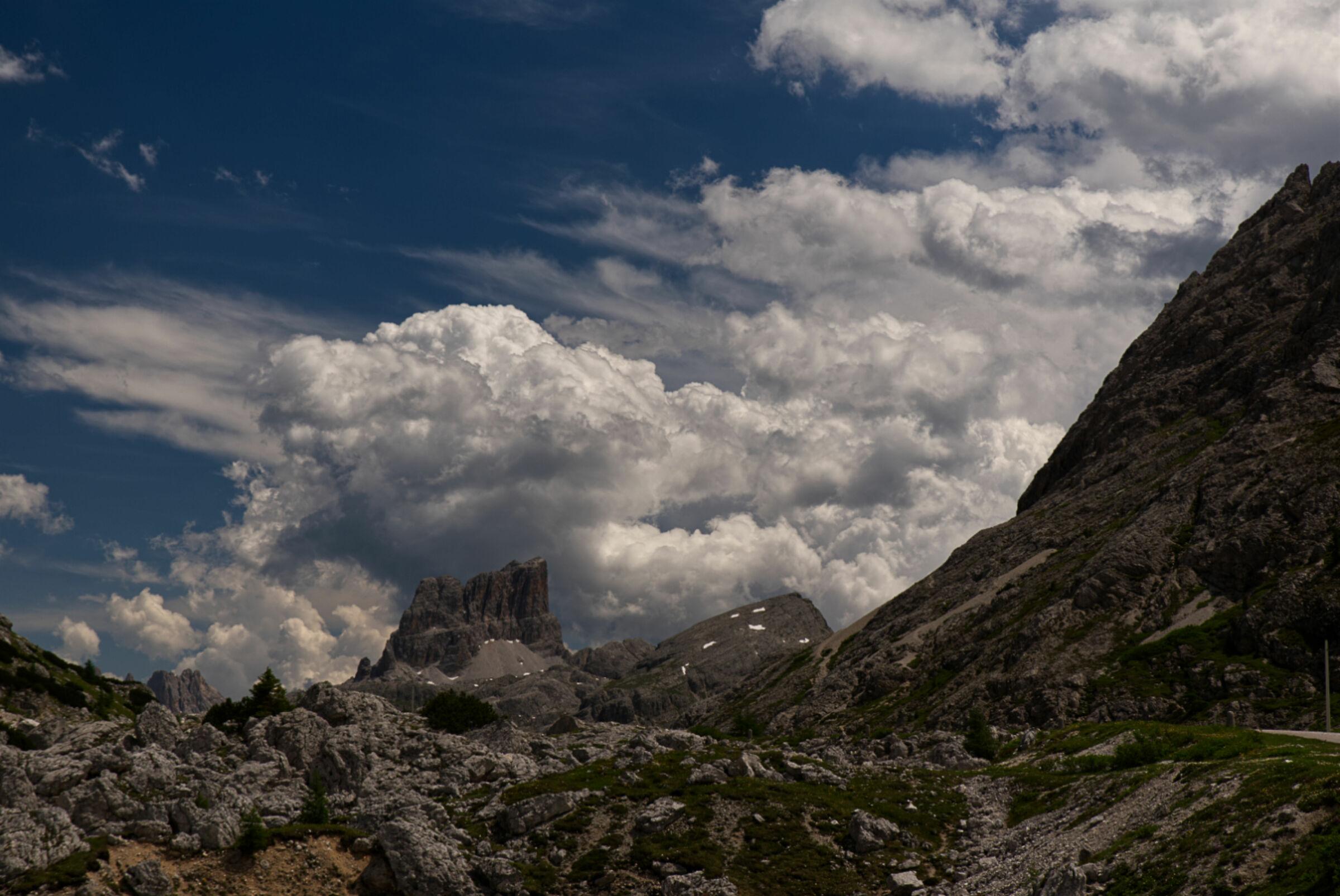 The Averau from the Valparola Pass...