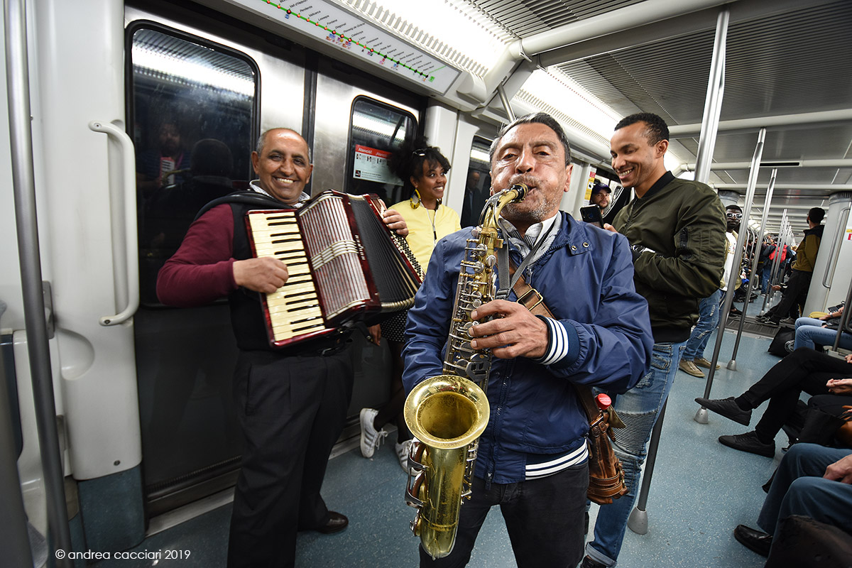 Musicians on the metro...